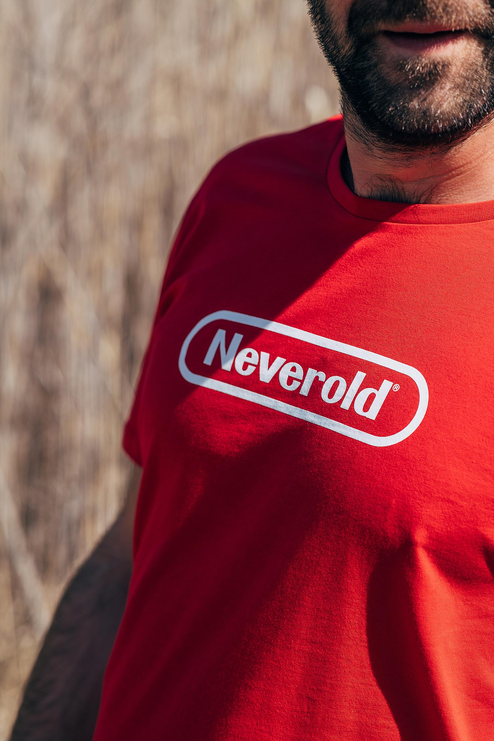 t-shirt for men Neverold red