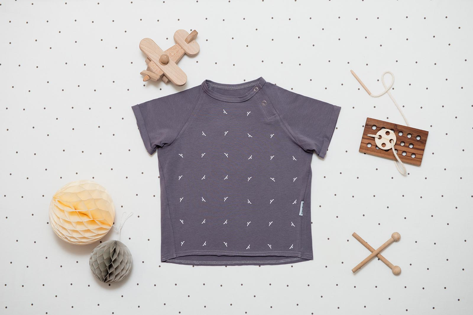 children's outfit Grid grey