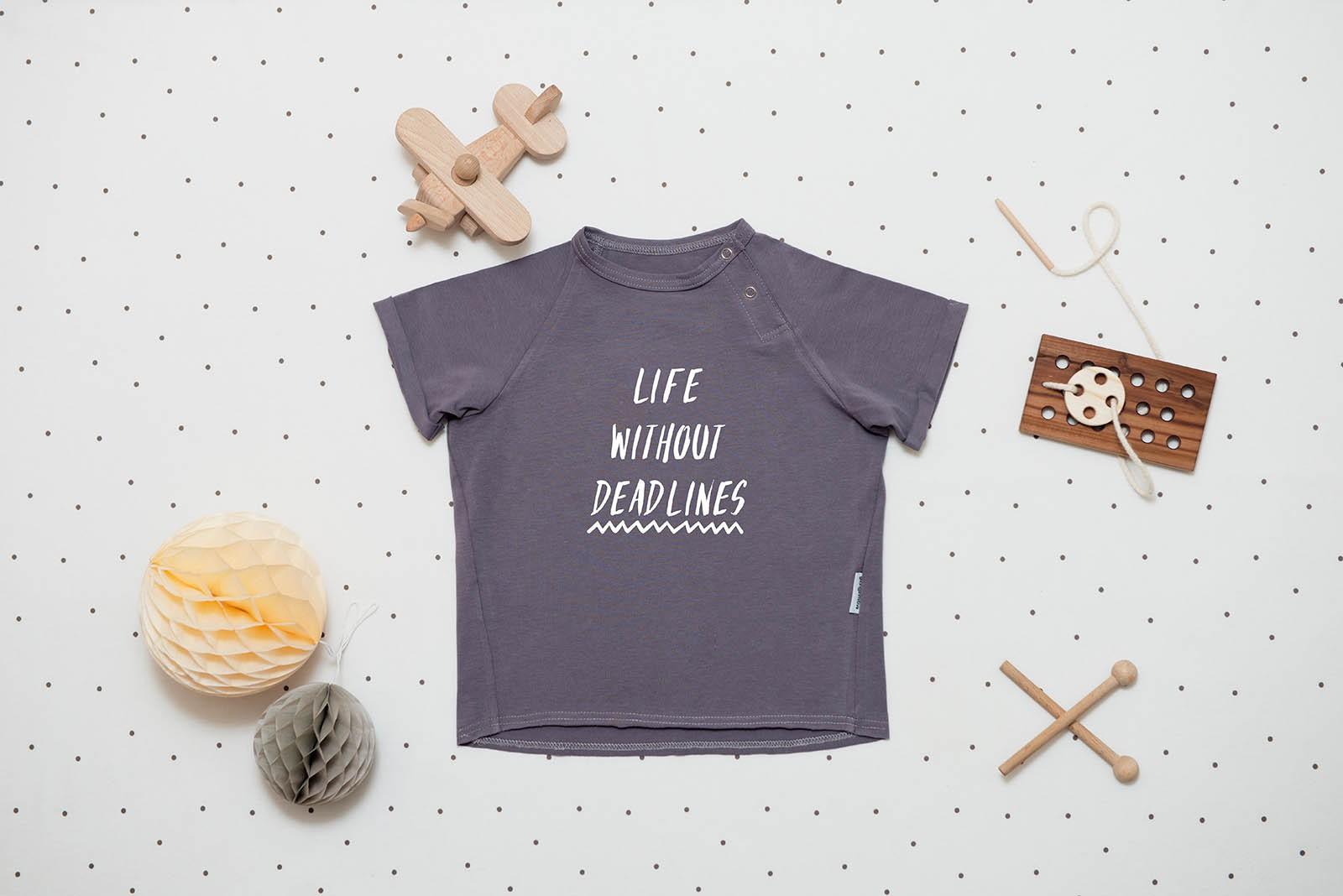 dětské oblečení Deadlines tee šedá