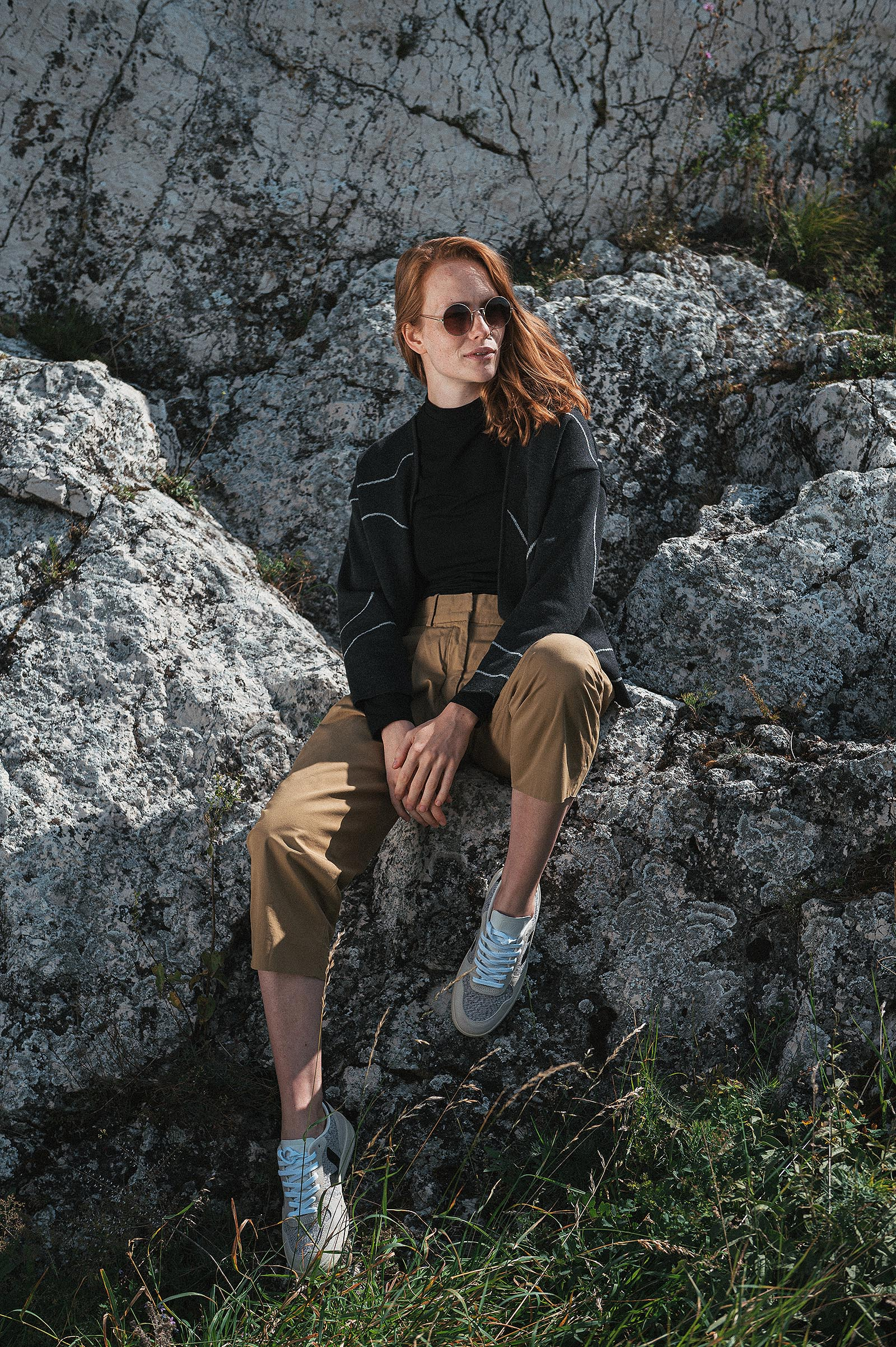 Merino collection Jackie anthracit contour