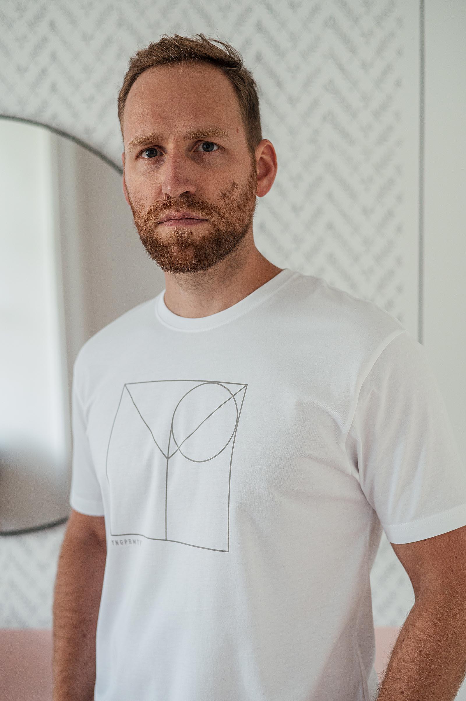 t-shirt Wedge white