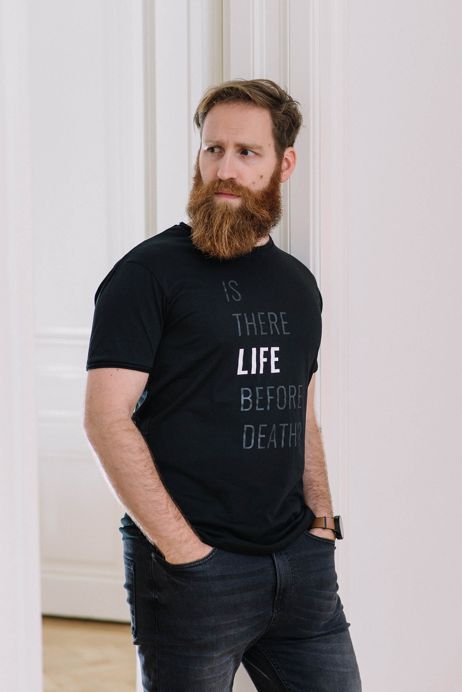 t-shirt for men Life? black