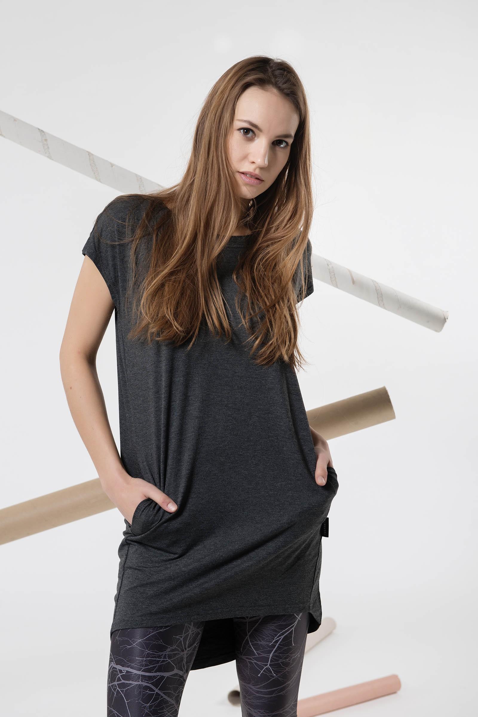 Šaty a sukně Naja šedý melír