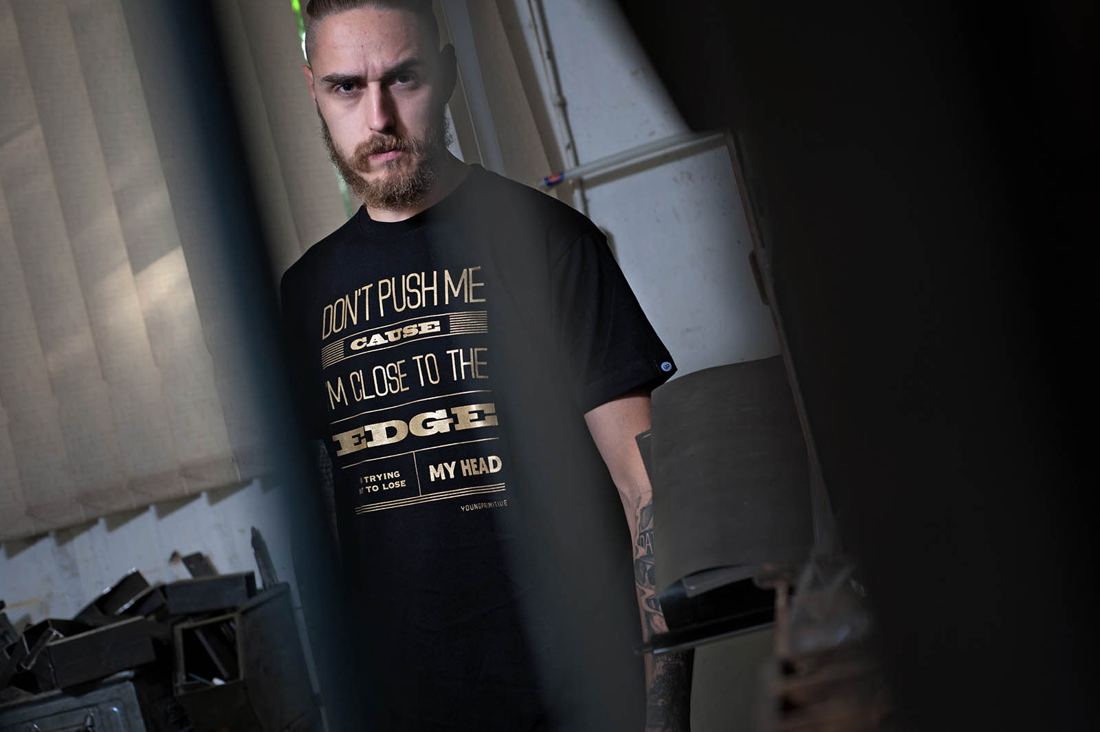 t-shirt for men Message Black