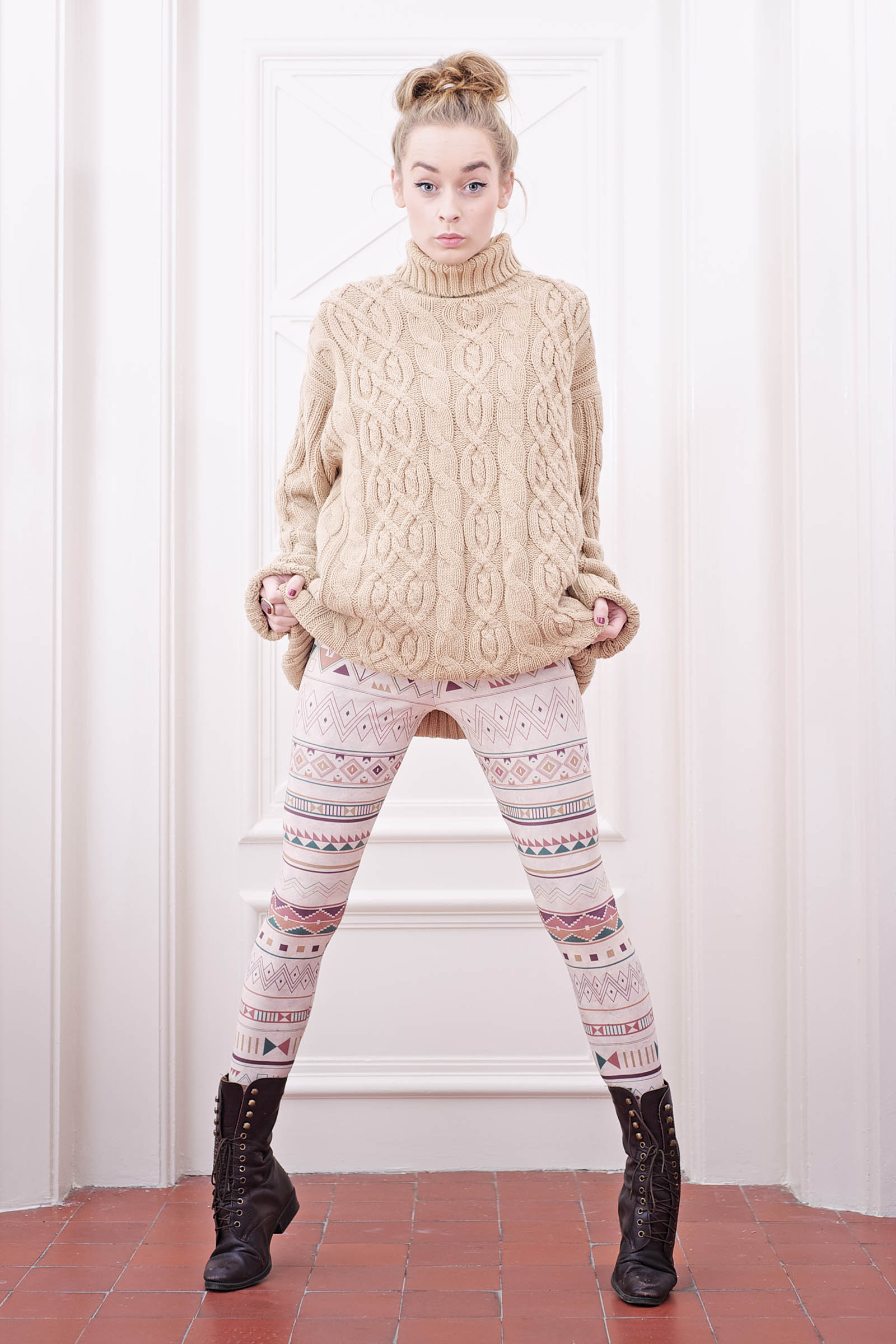 Leggings Rybana Beige
