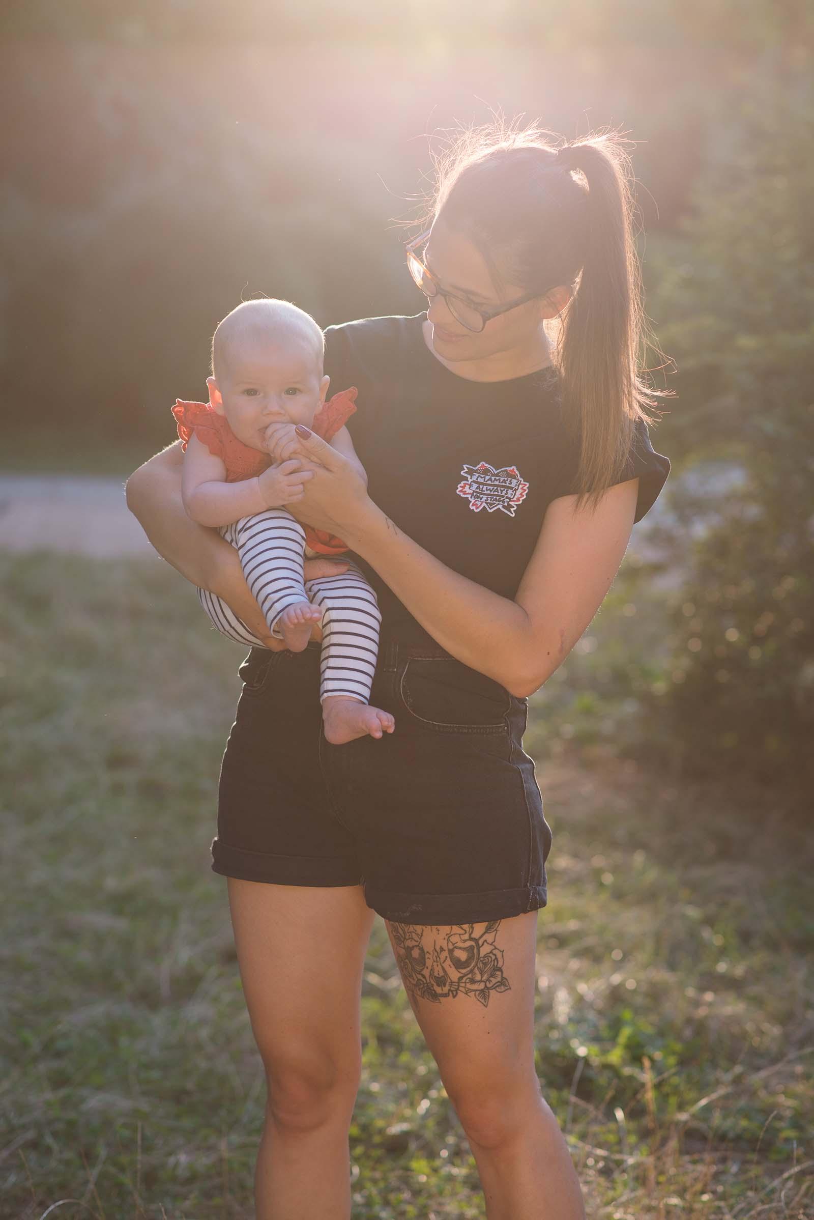 Dámské tričko Mama černá