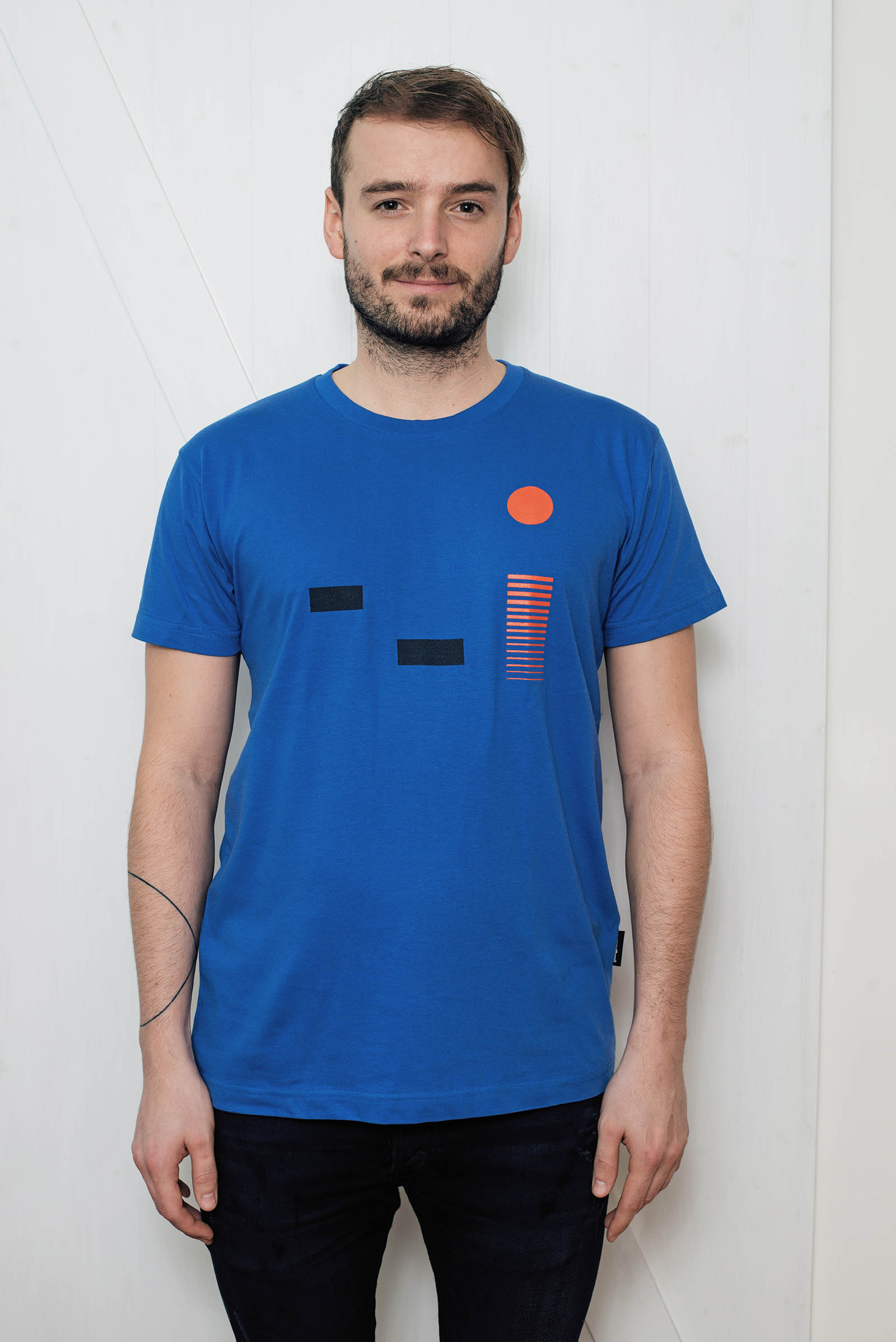 t-shirt for men Monet blue