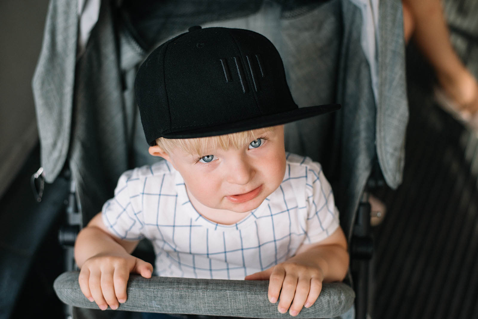 children's outfit Kids snapback black
