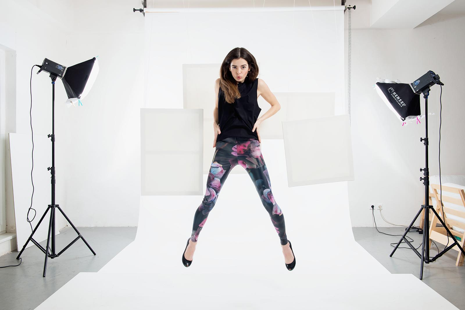 Leggings Hydrangea black