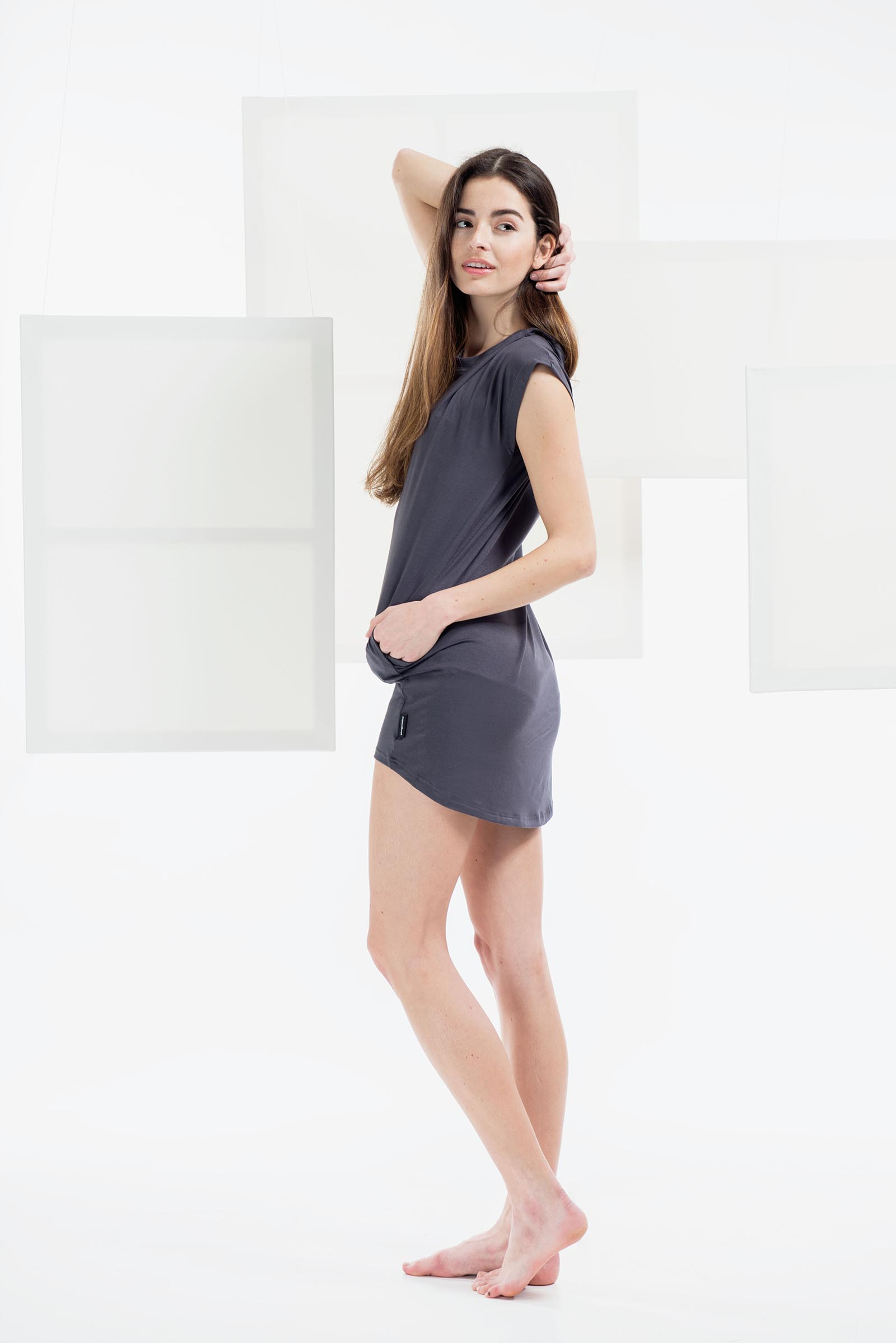 Šaty a sukně Naja šedá