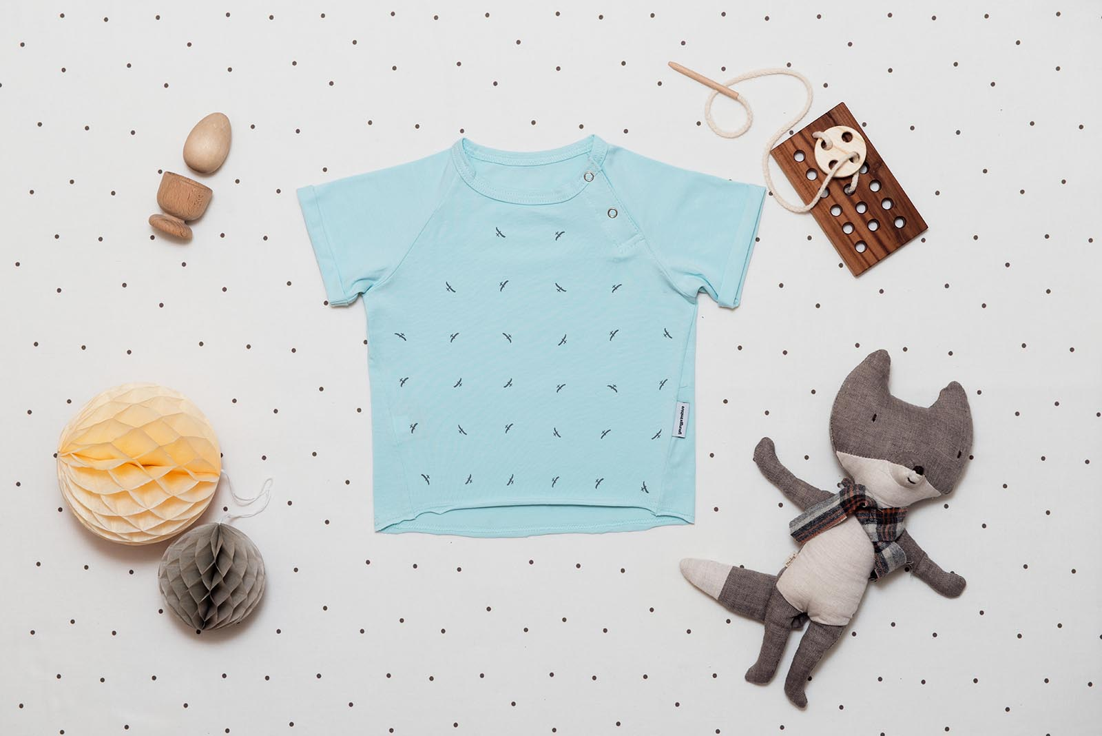 children's outfit Grid Mint