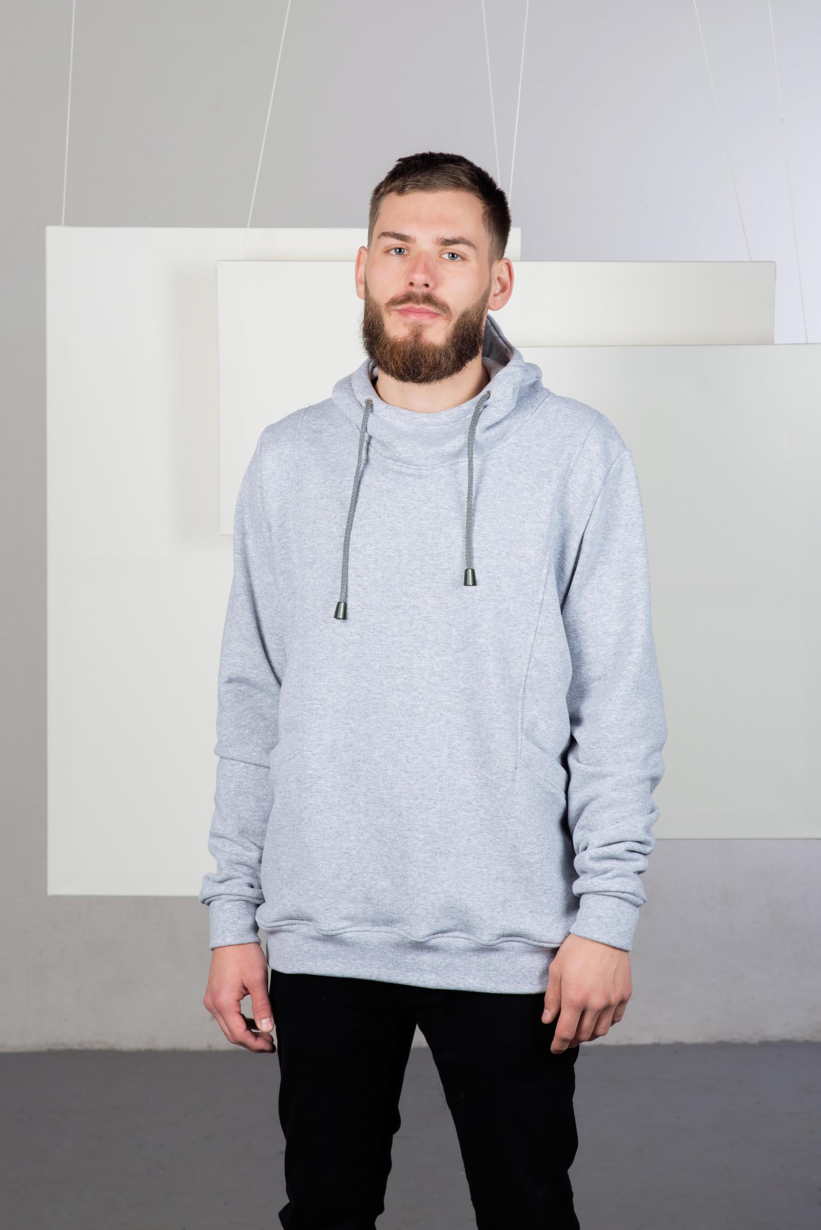 men sweatshirt Edward Grey heather