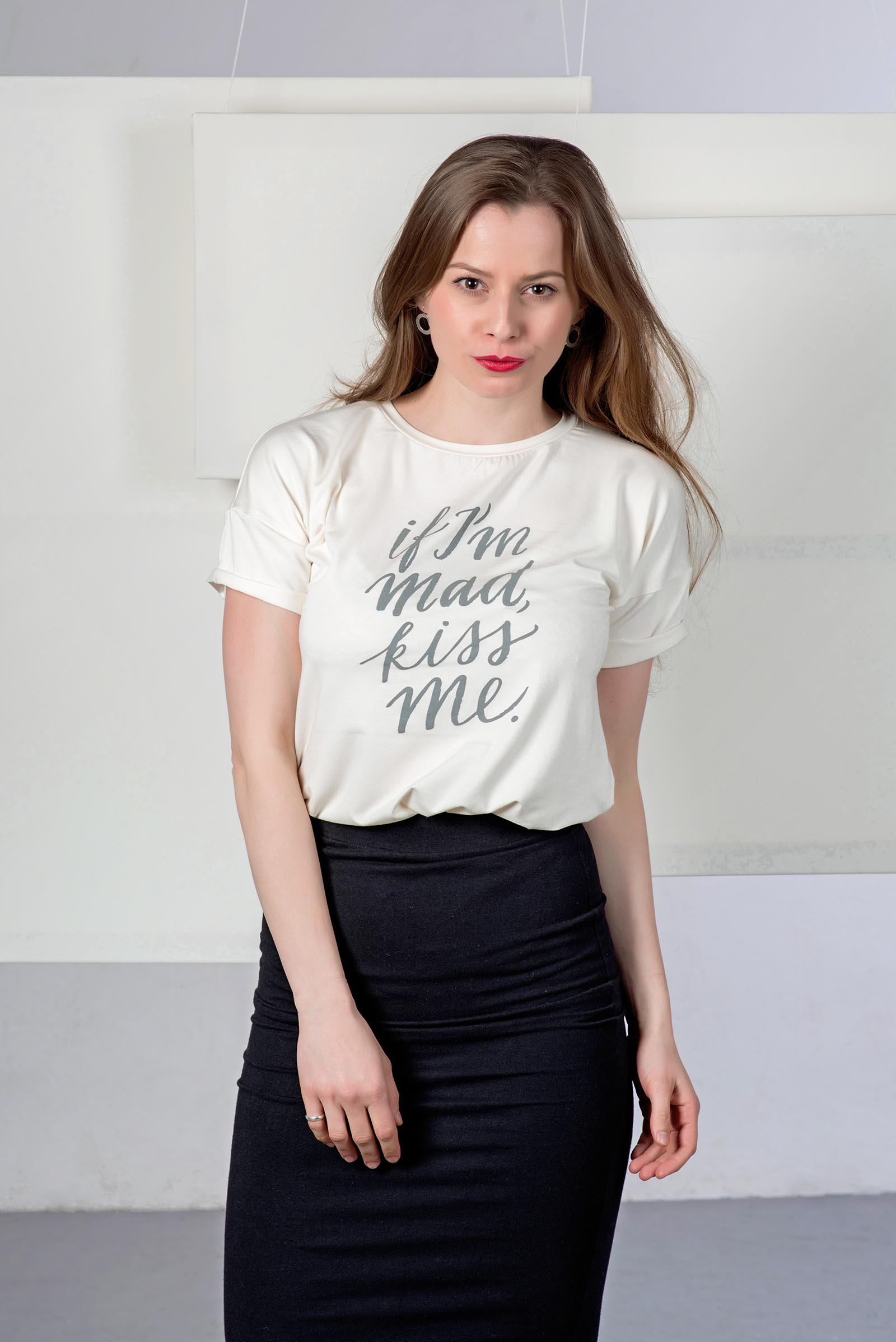 t-shirt for women MAD beige