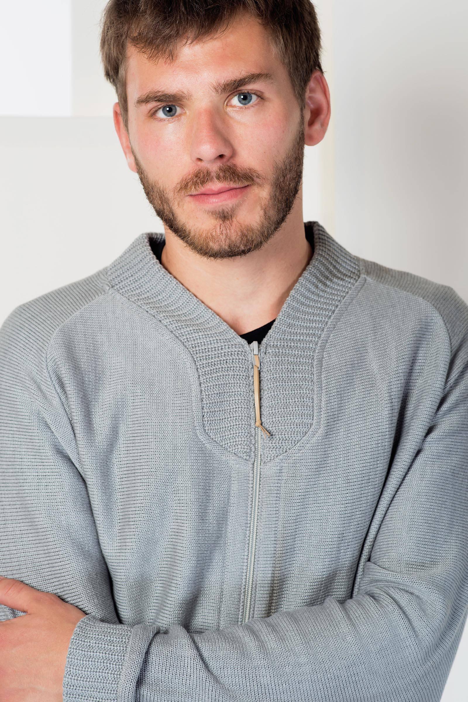 men sweatshirt Abraham grey