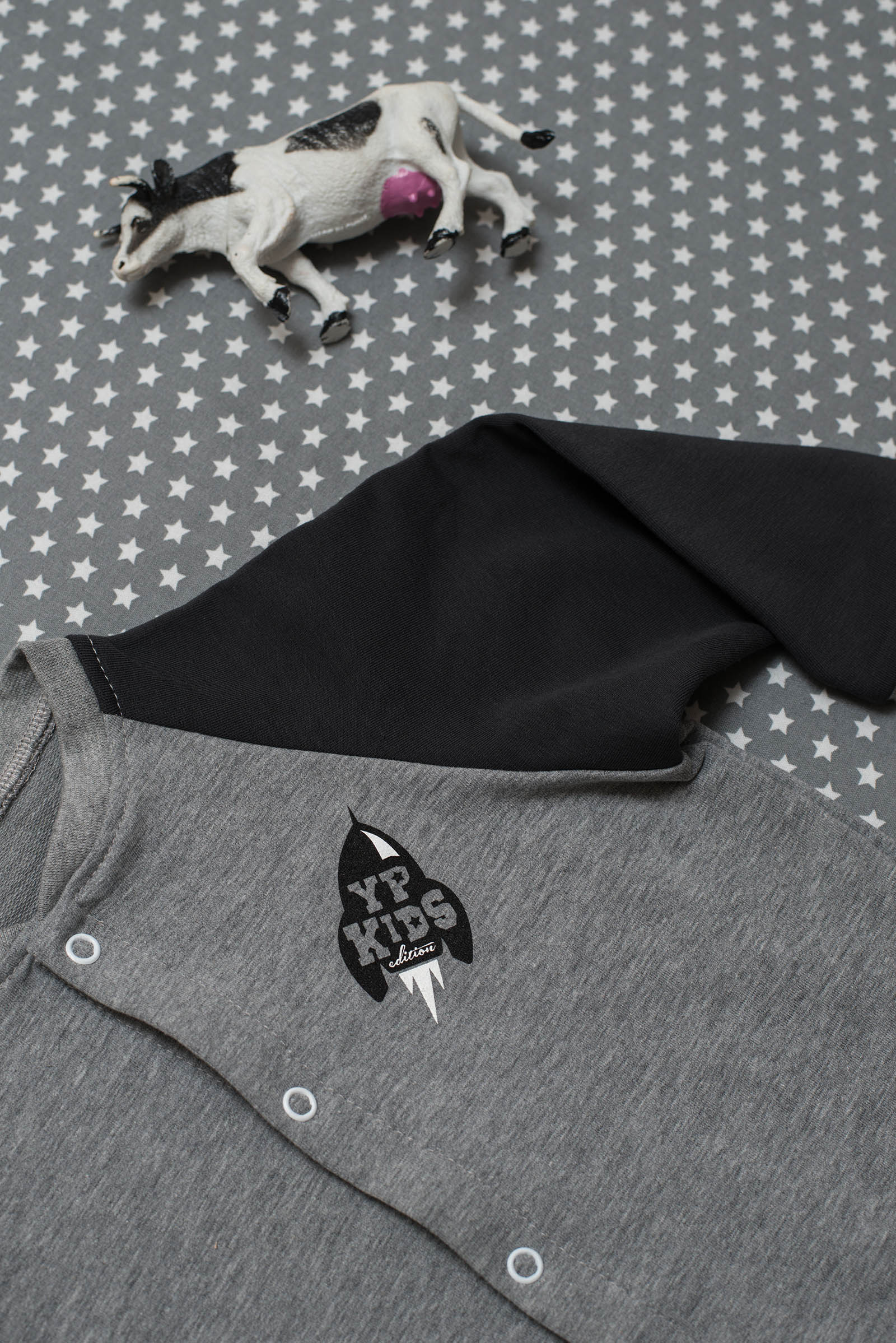 children's outfit Zenit grey black
