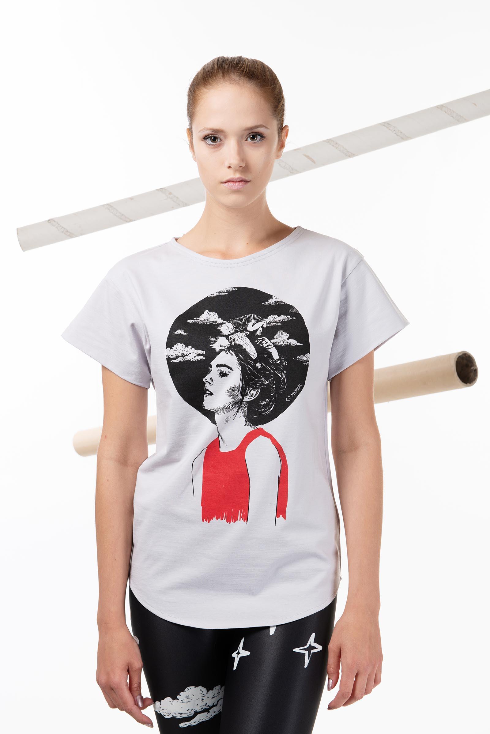 Dámské tričko Asleep světle šedá