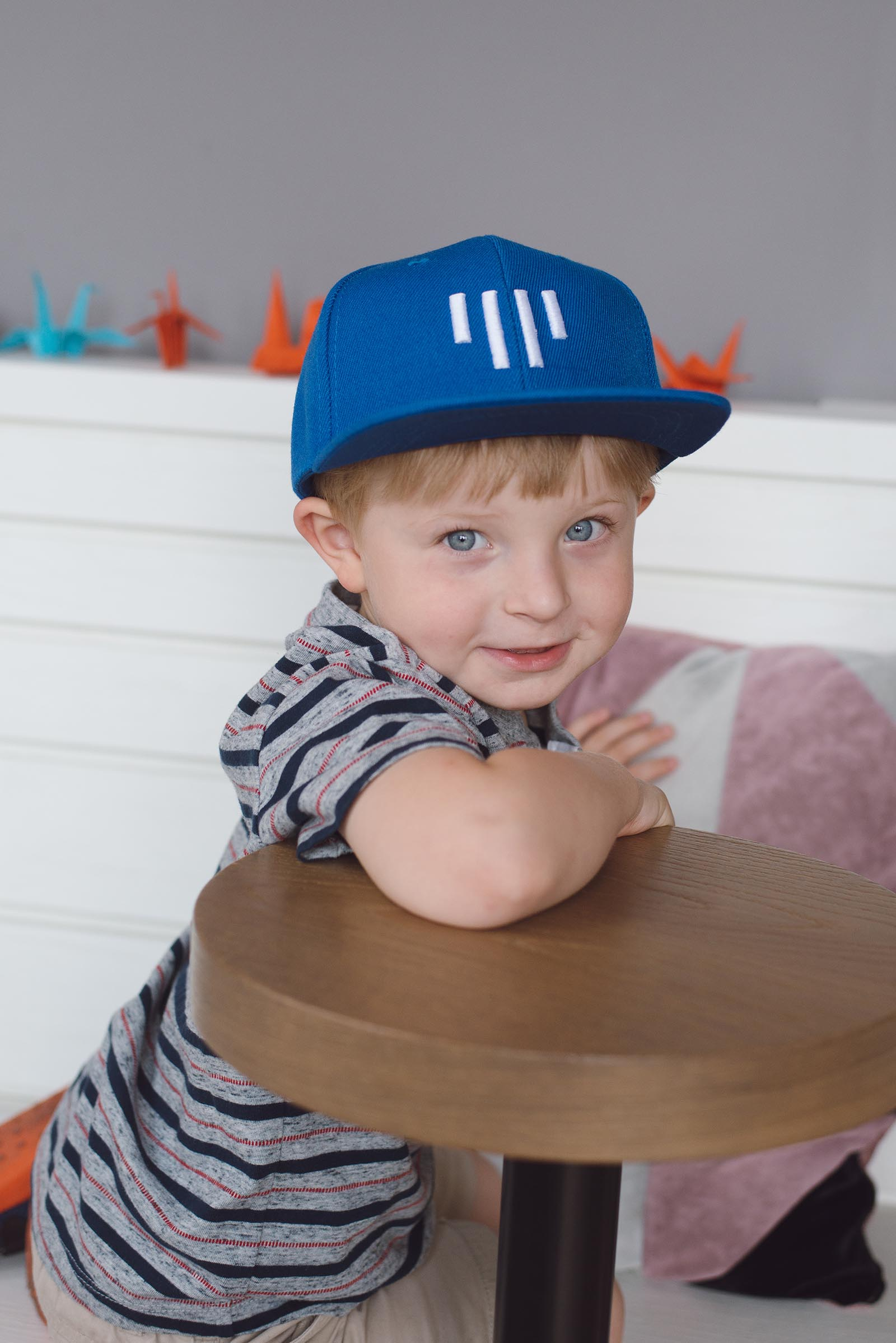children's outfit Kids snapback blue