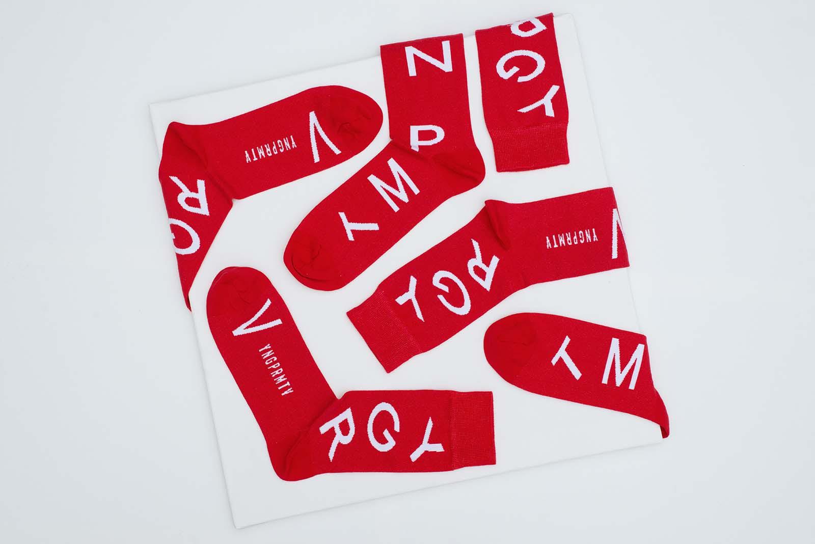 Doplňky Fuski Typo červená