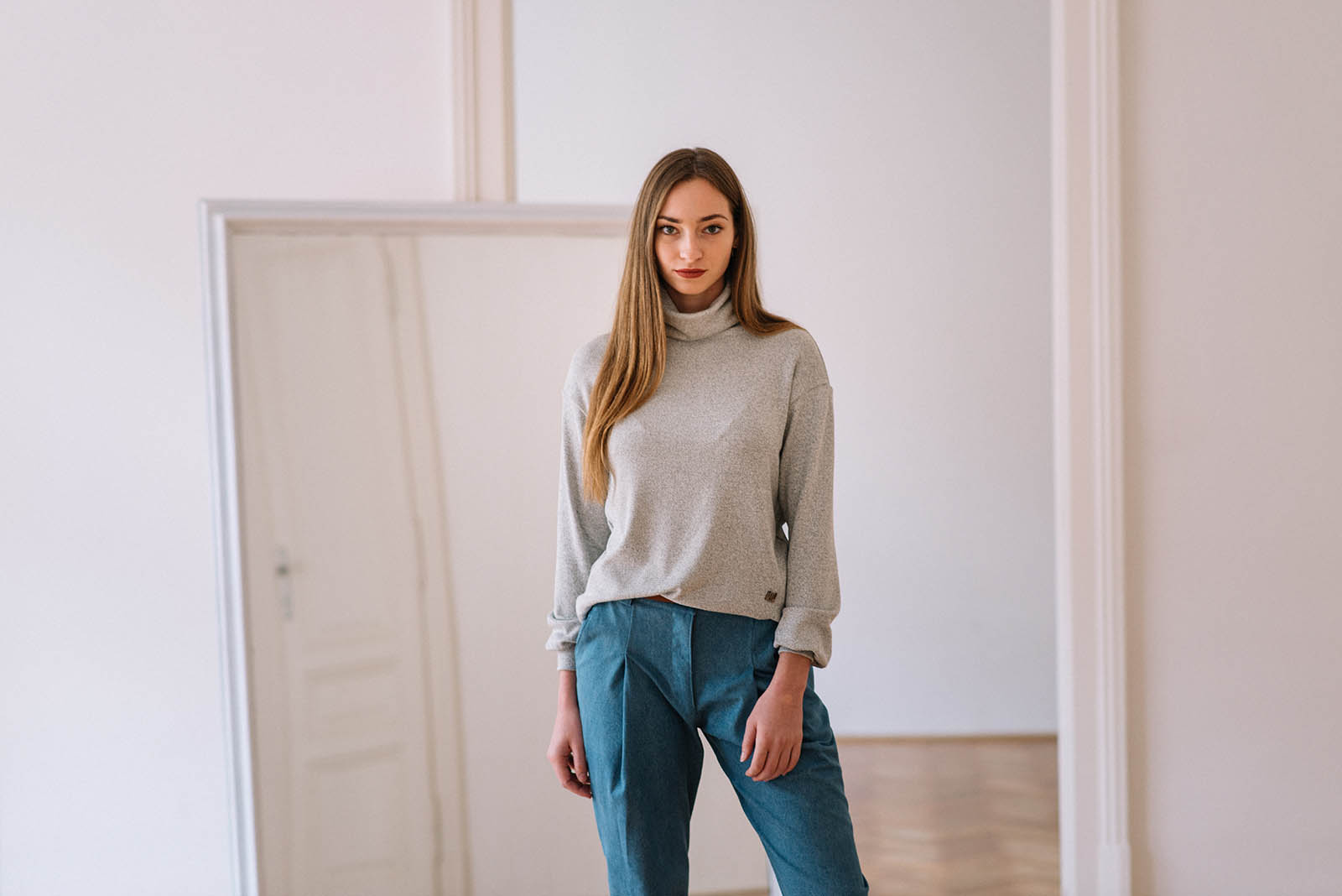 women sweatshirt and sweaters Liva grey