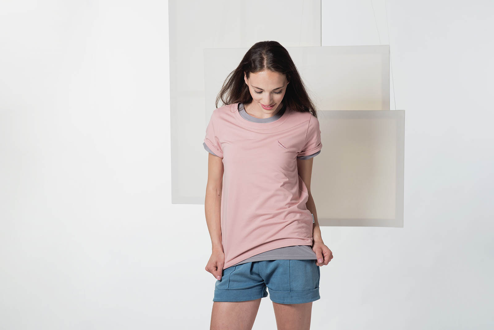 t-shirt for women Thea powder pink