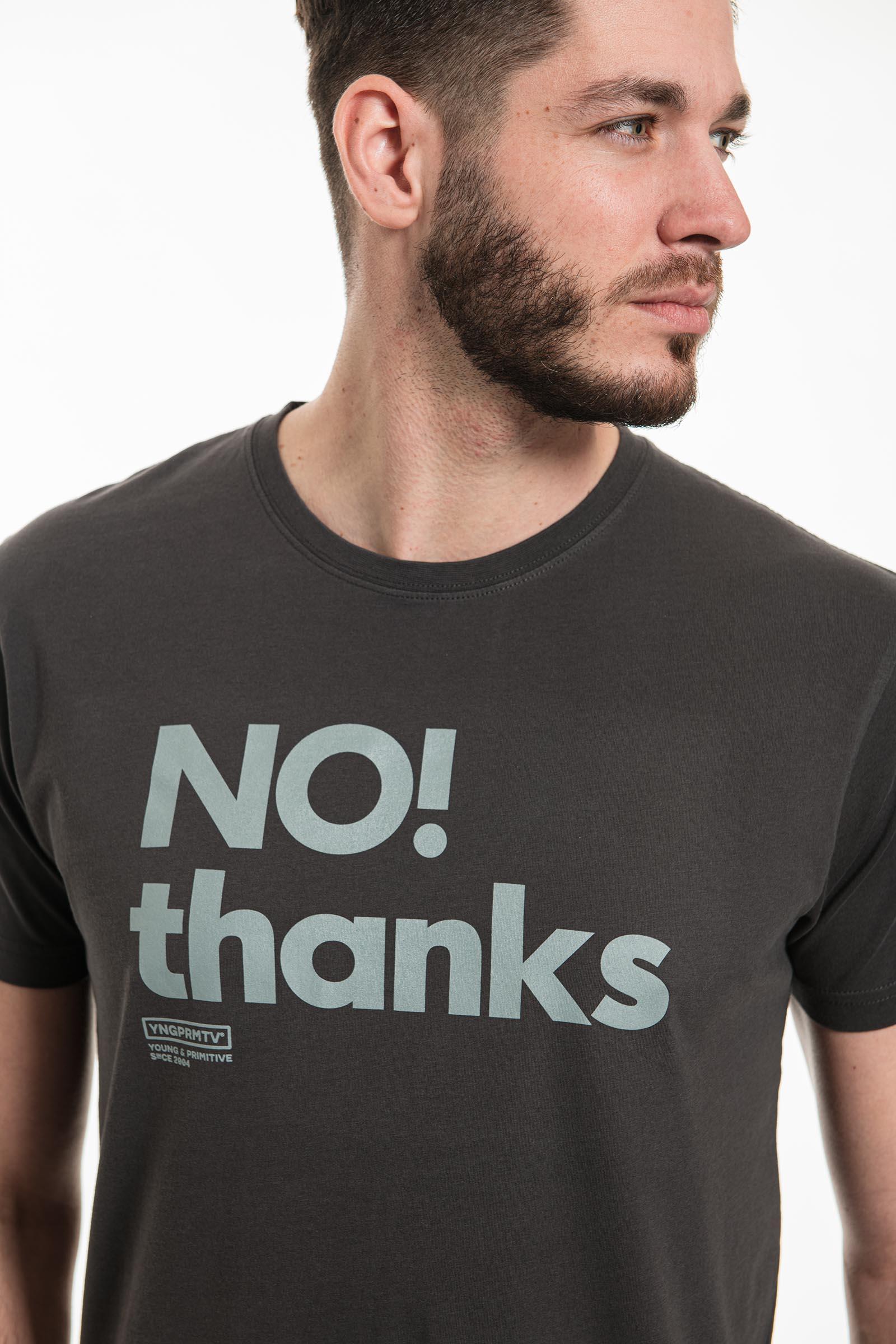 tričko No thanks tmavě šedá