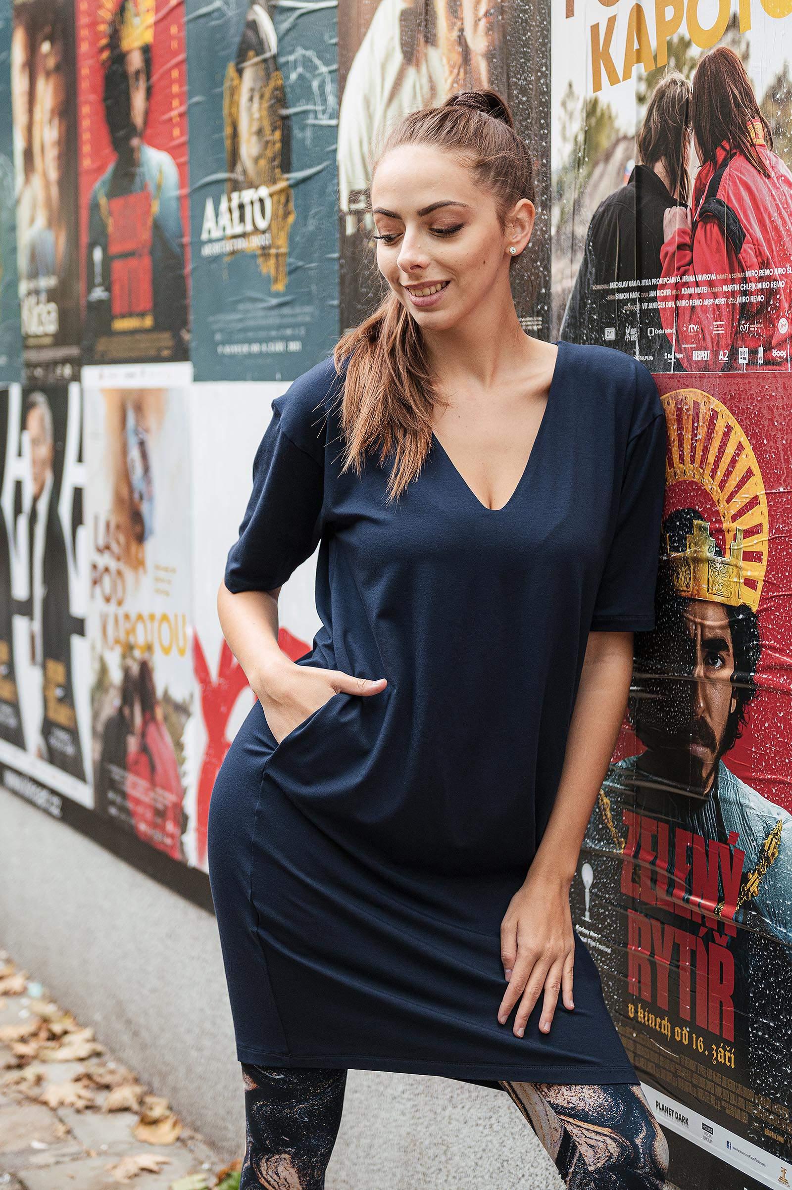 Šaty a sukně Aletta Midnight blue