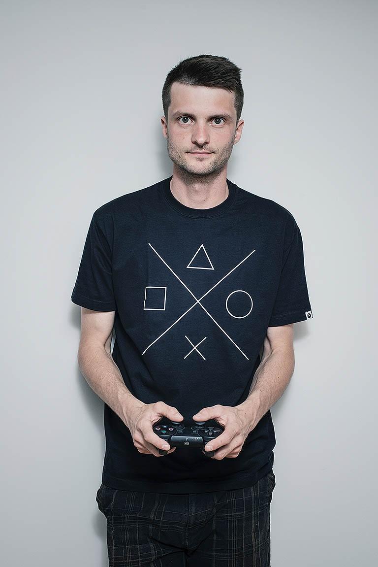 Pánské tričko Gamer černá