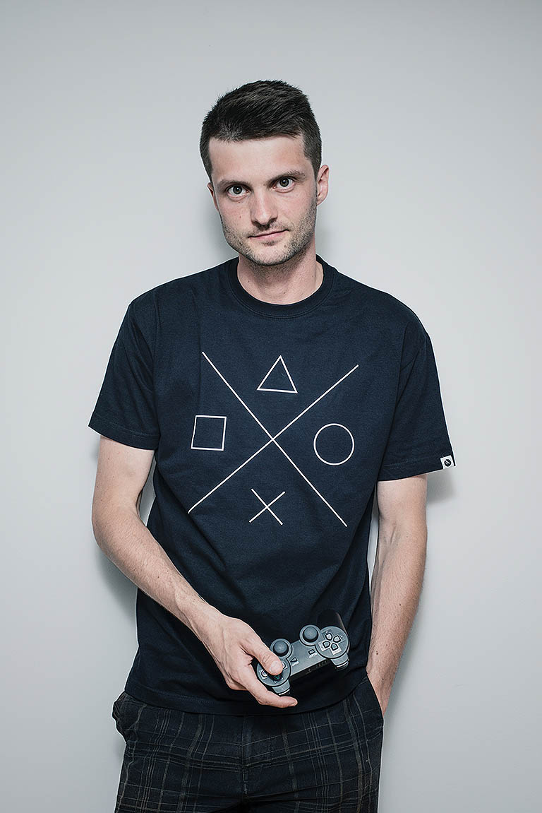 t-shirt for men Gamer black