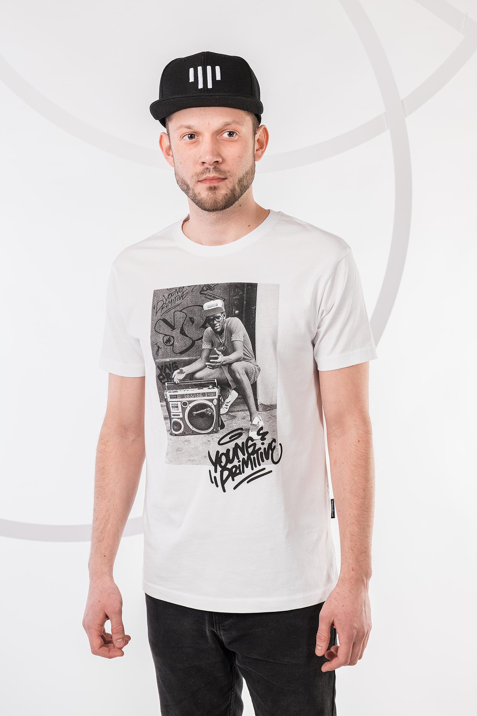 t-shirt for men Boombox white