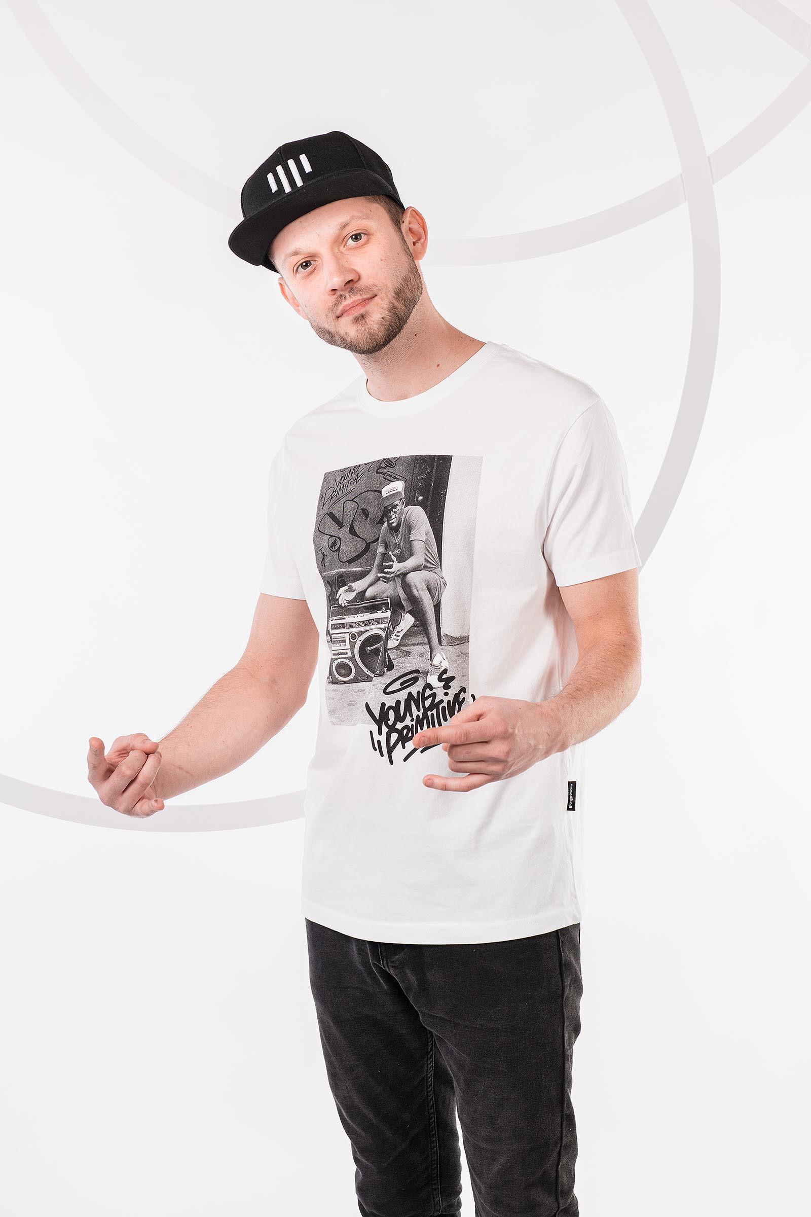 Pánské tričko Boombox bílá