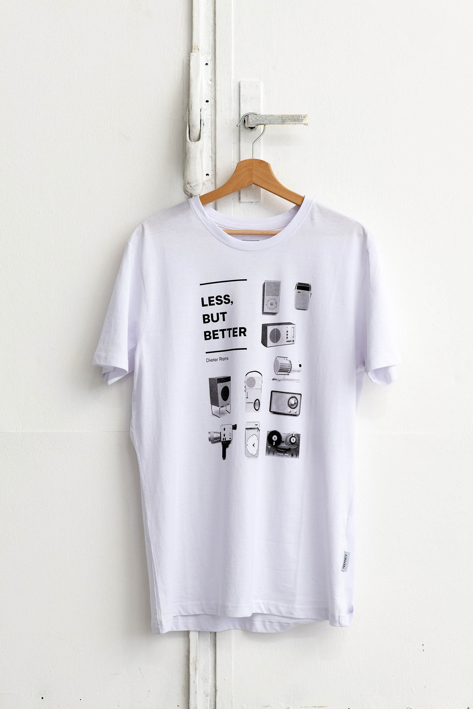 t-shirt for men Less but better white