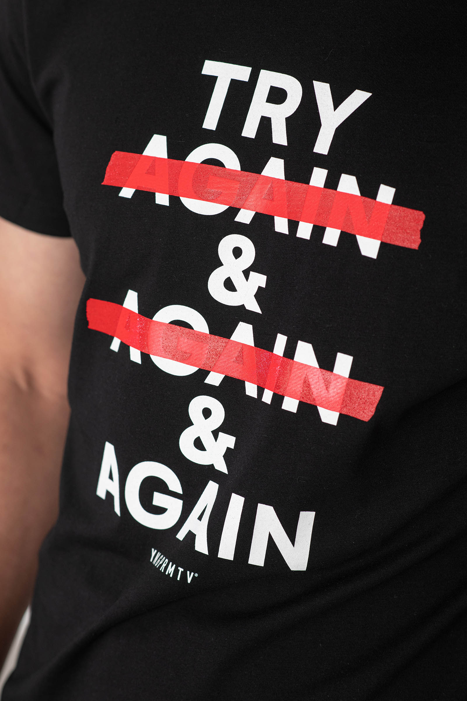 t-shirt for men Try again! royal blue