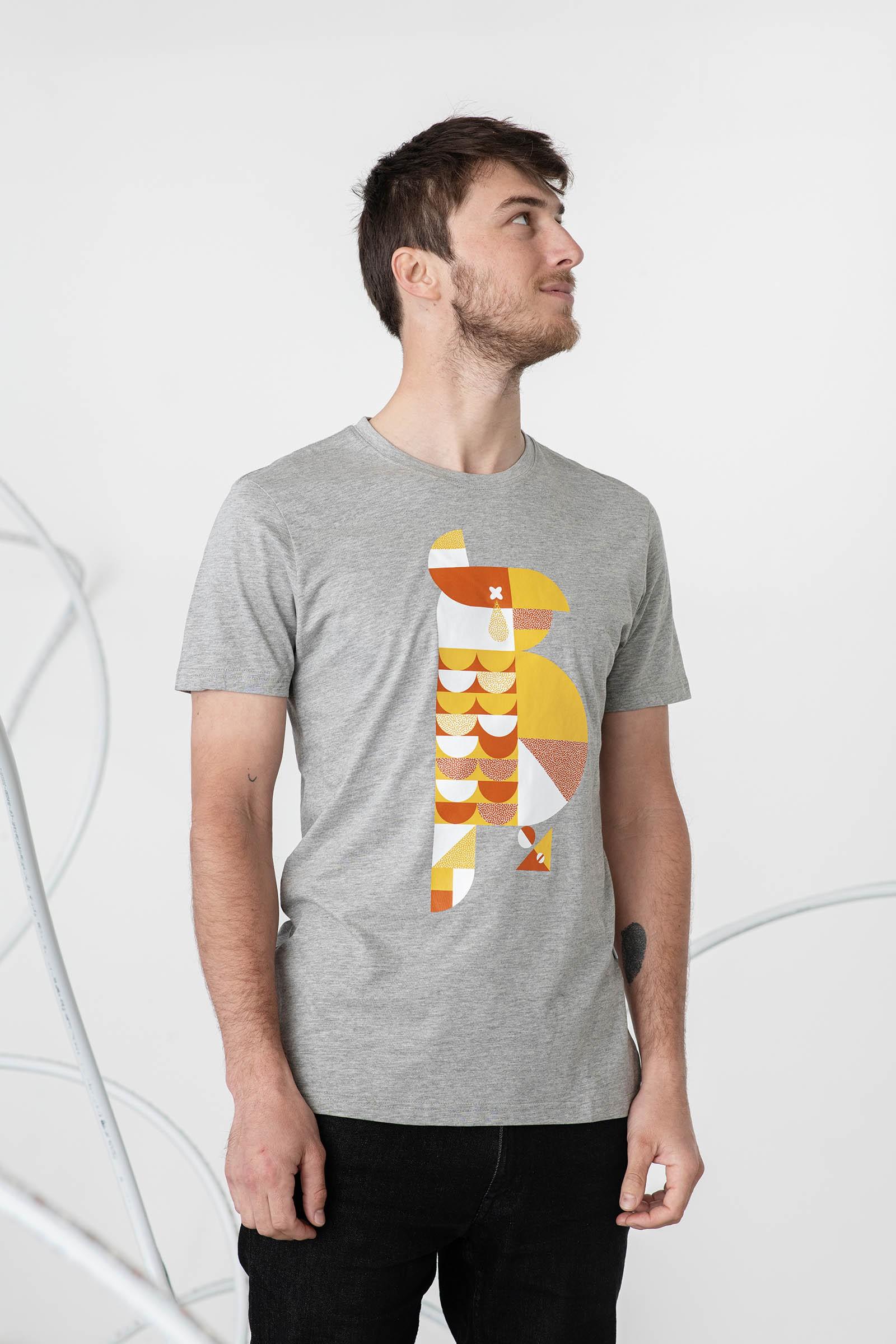 Pánské tričko Šmolka Norská šedá
