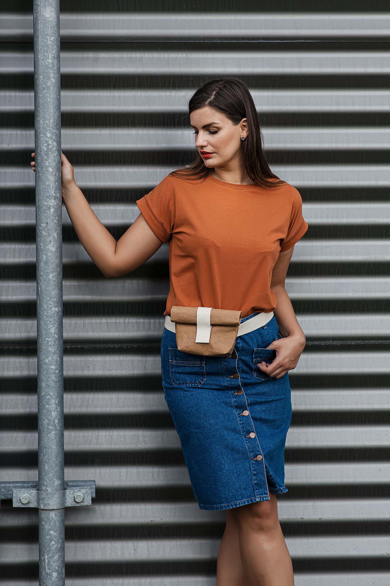 Dámské trička a košile Lia cihlová