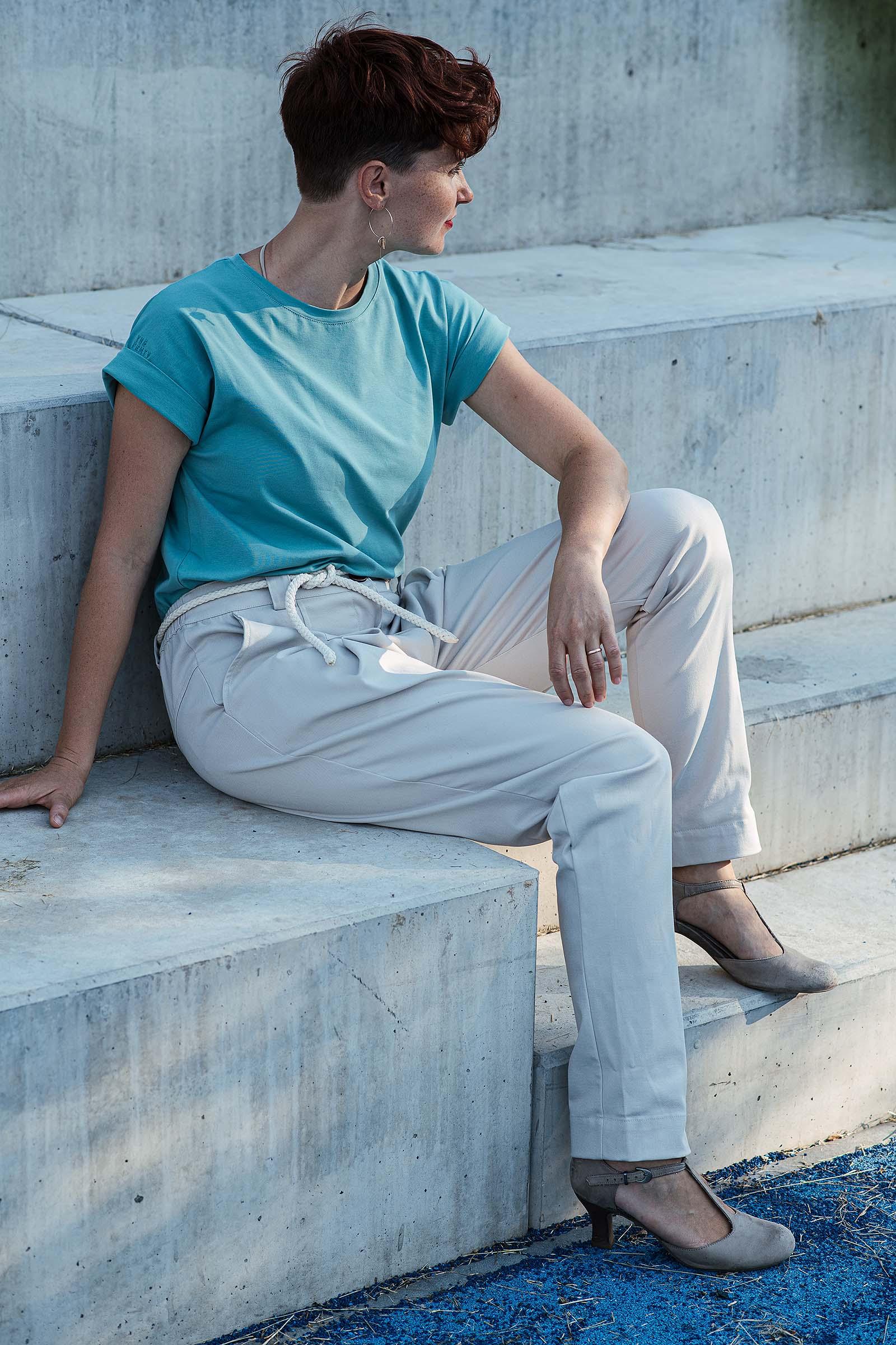 Kalhoty Nora béžová