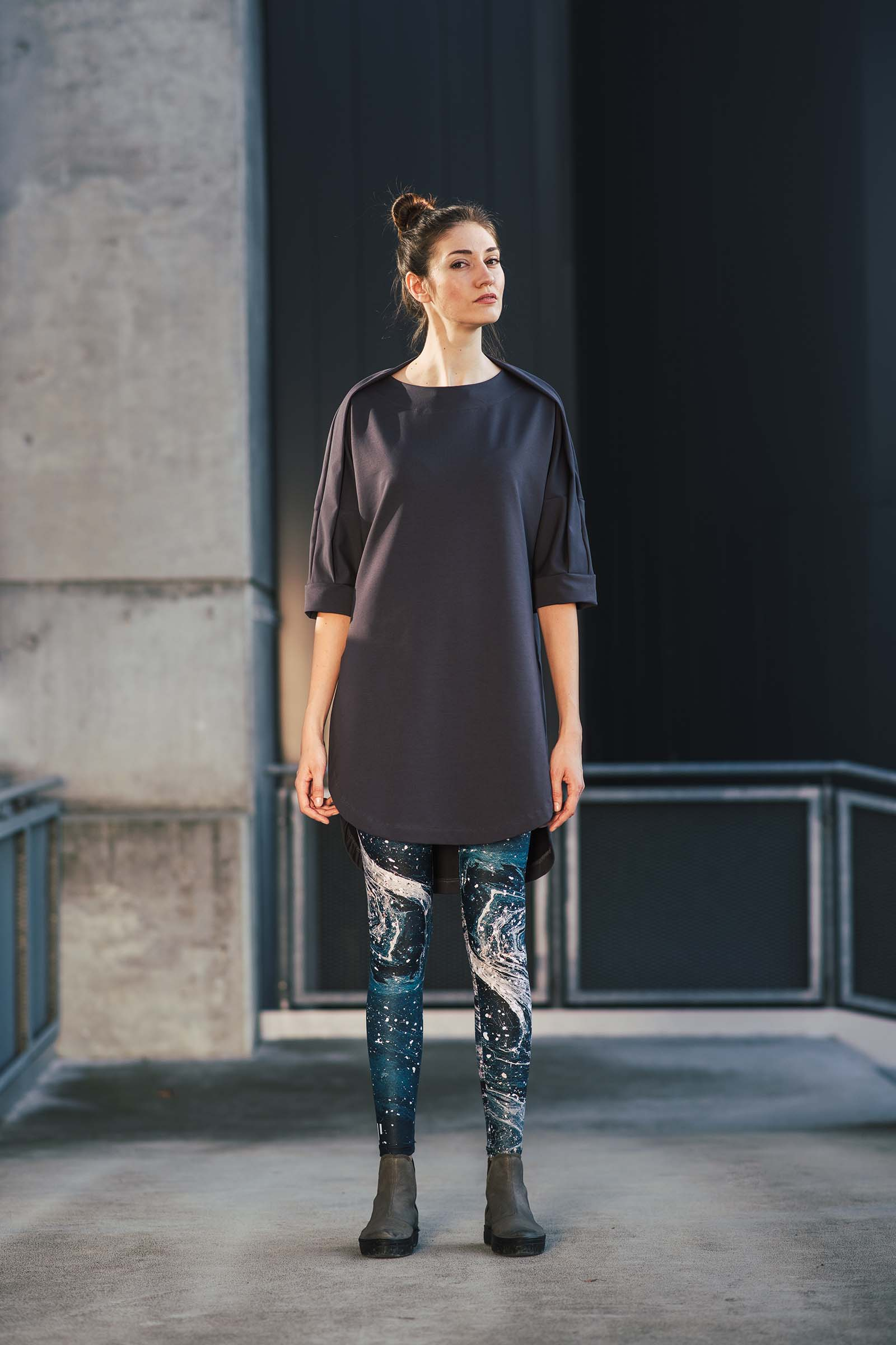Šaty a sukně Yasmin šedomodrá