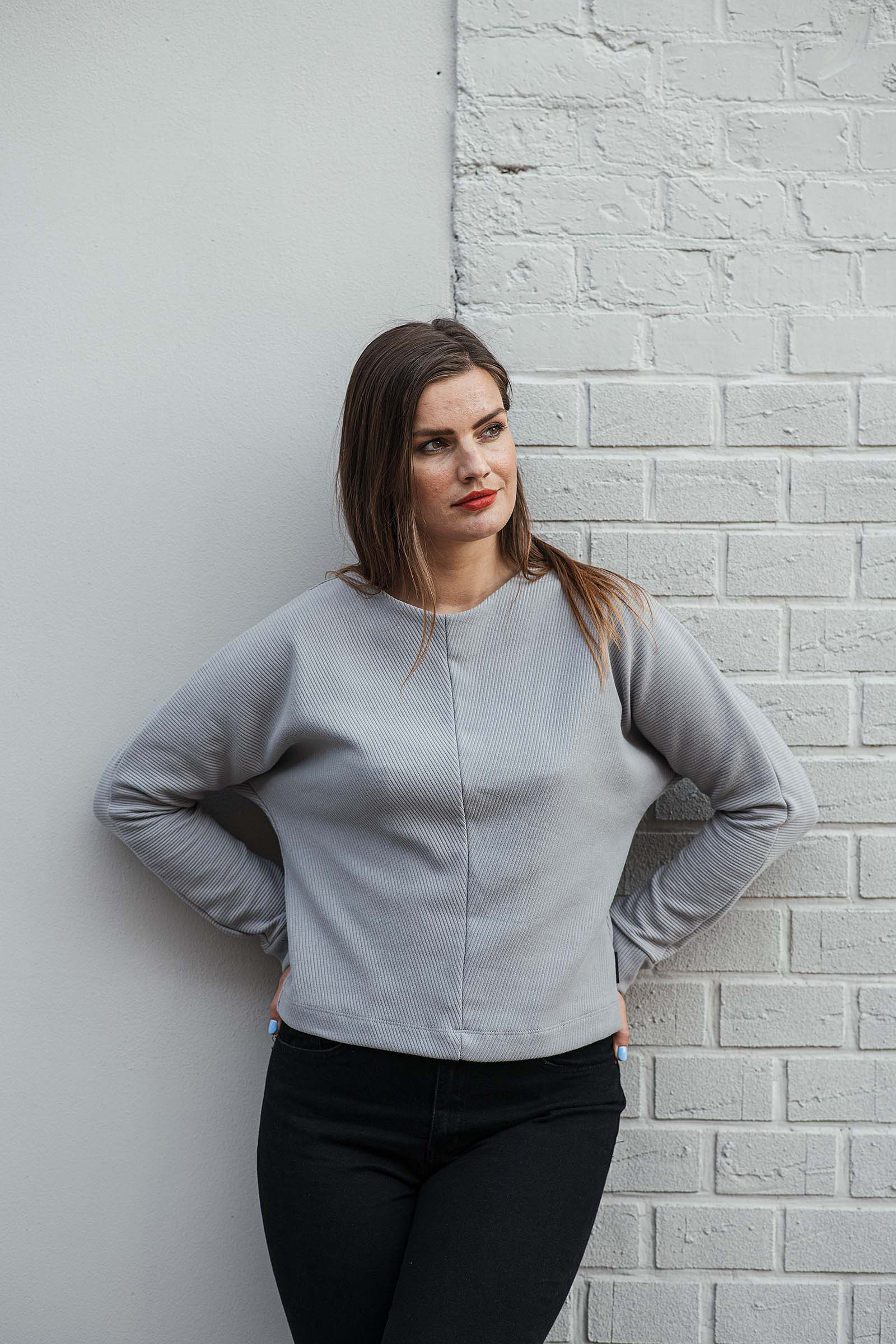 women sweatshirt and sweaters Rosa grey