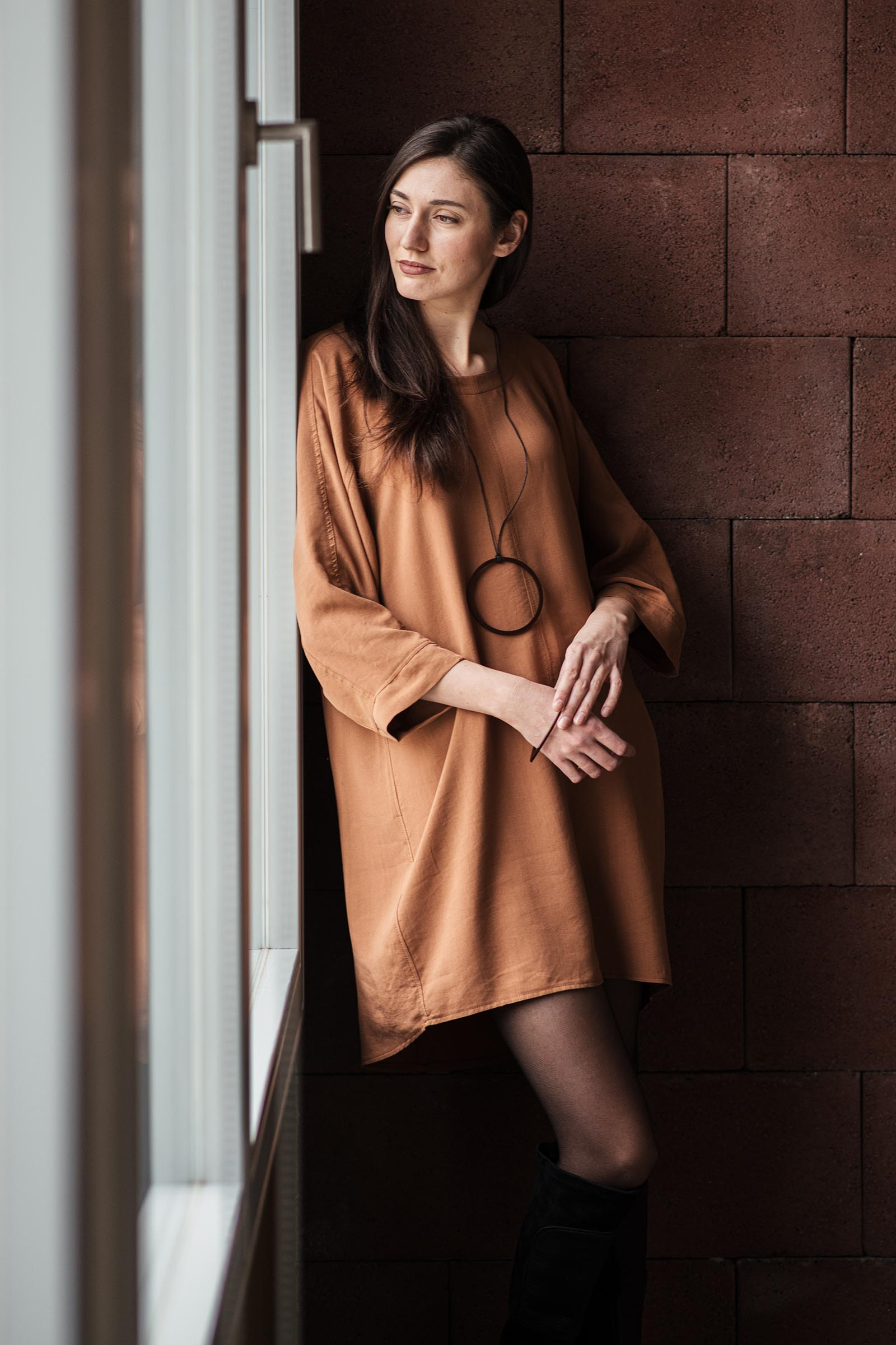 Šaty a sukně Reza rezavá
