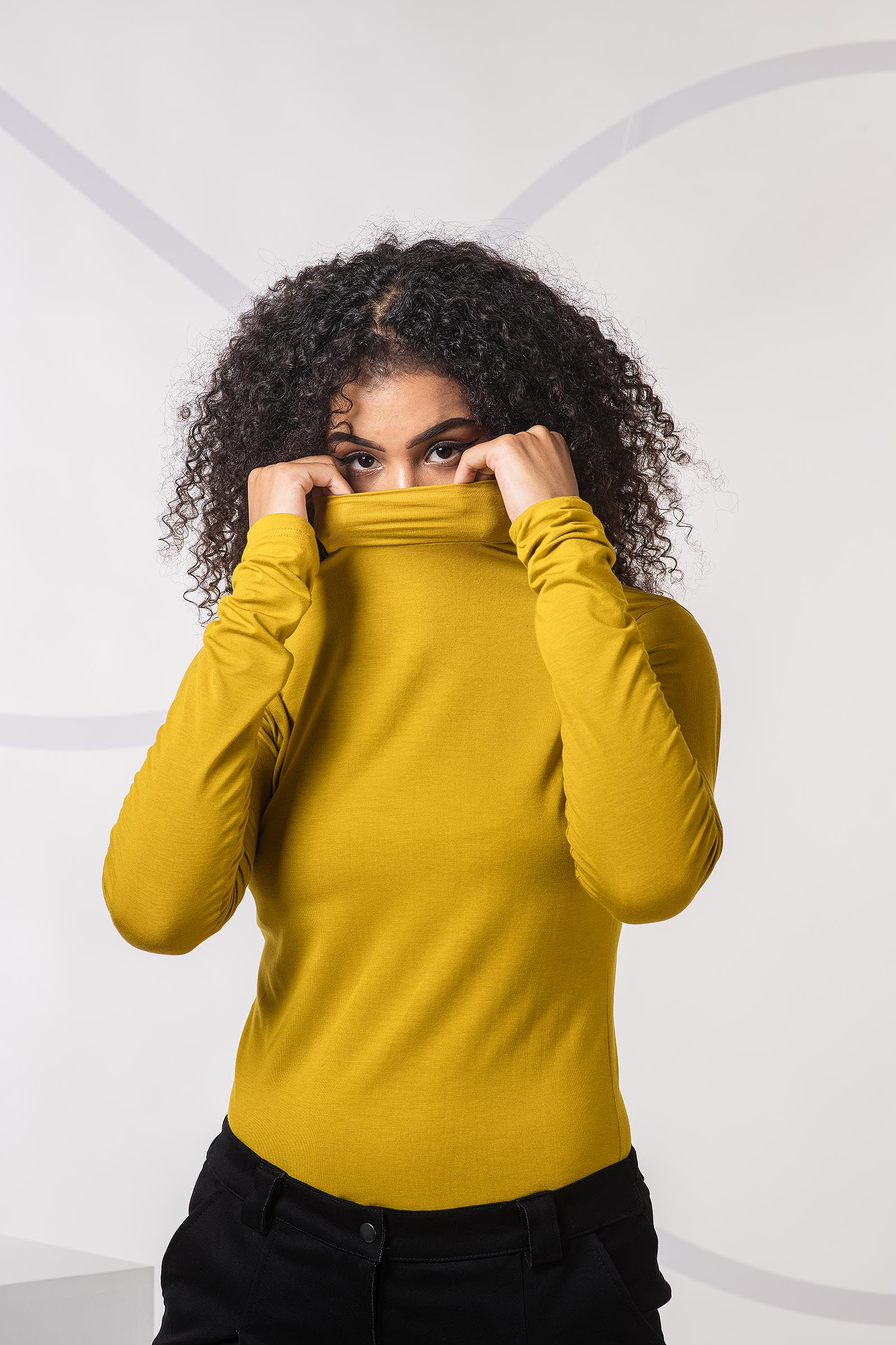 women sweatshirt and sweaters Alma mustard