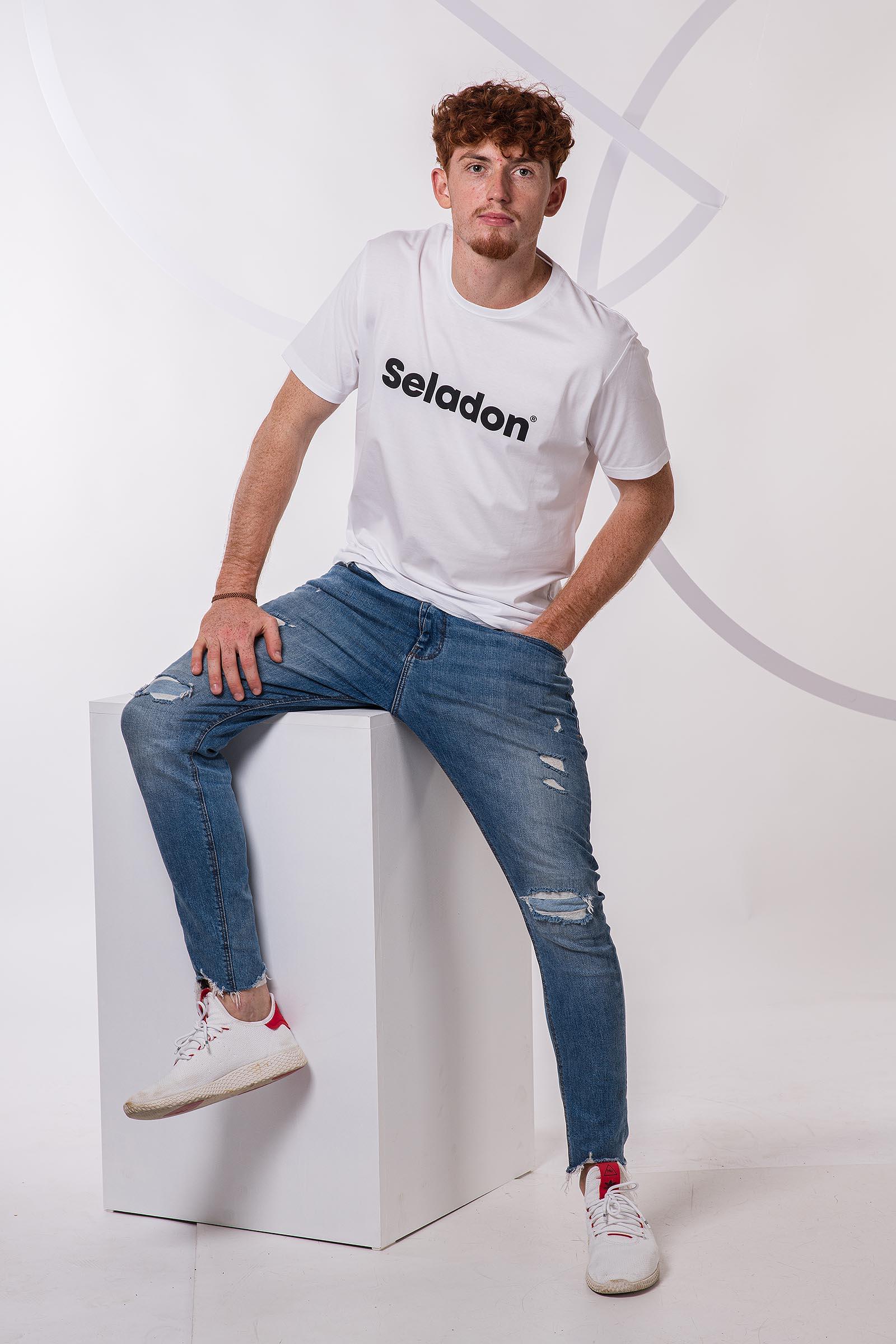 t-shirt for men Seladon white