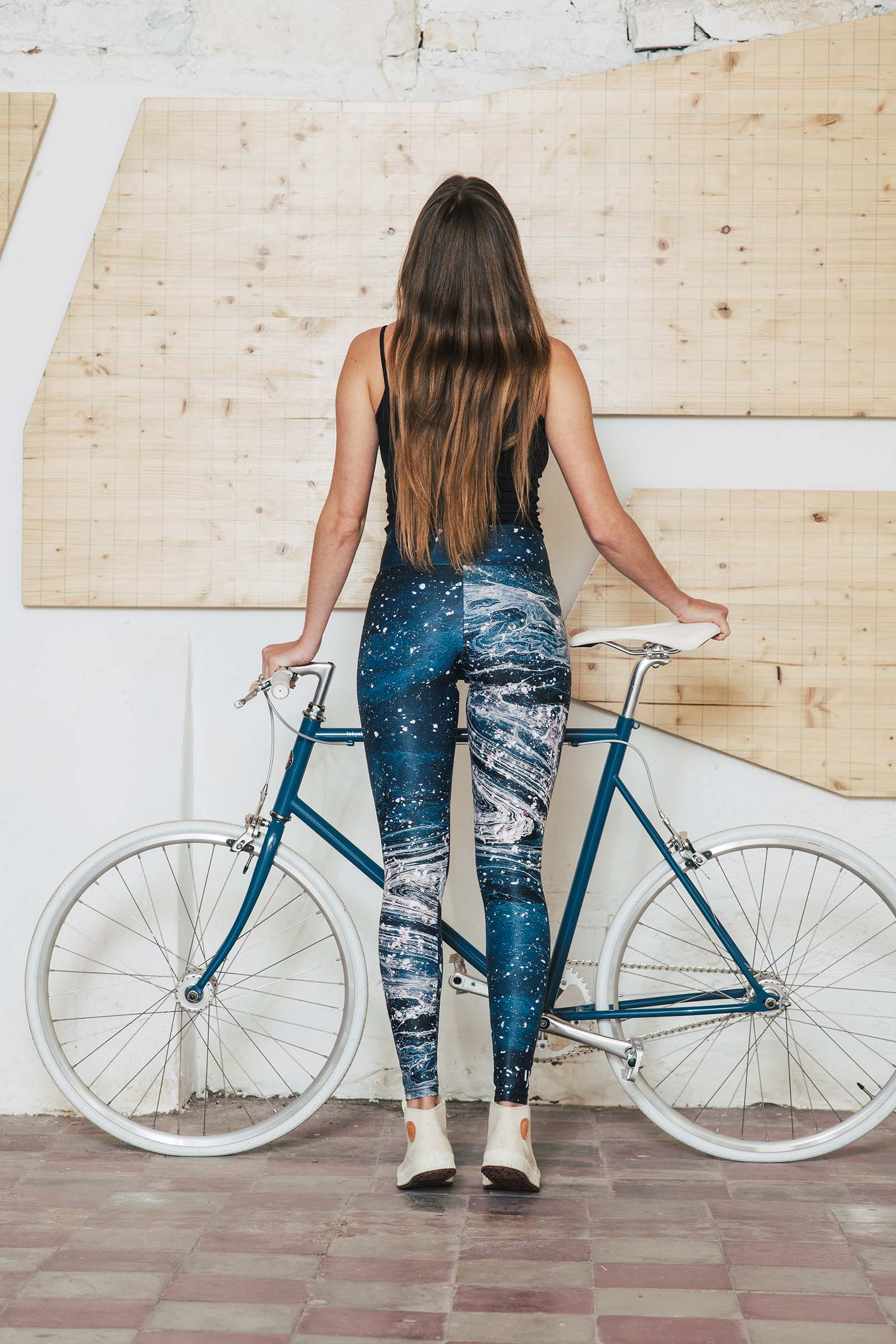 Leggings Microcosmos blue