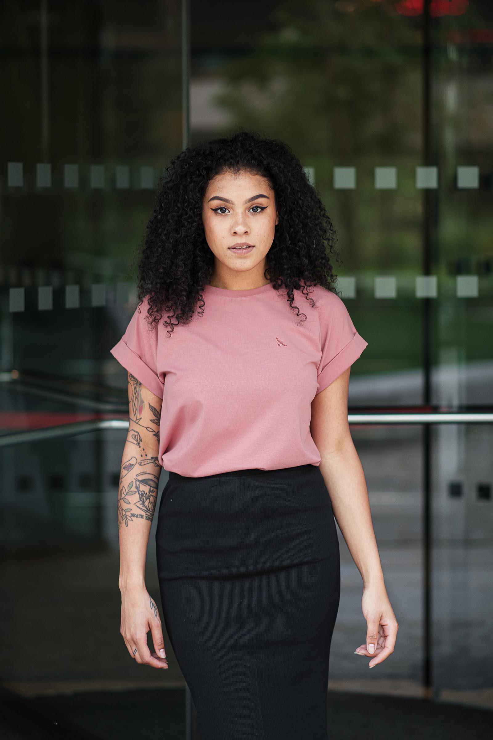 t-shirt and shirt Lia coral