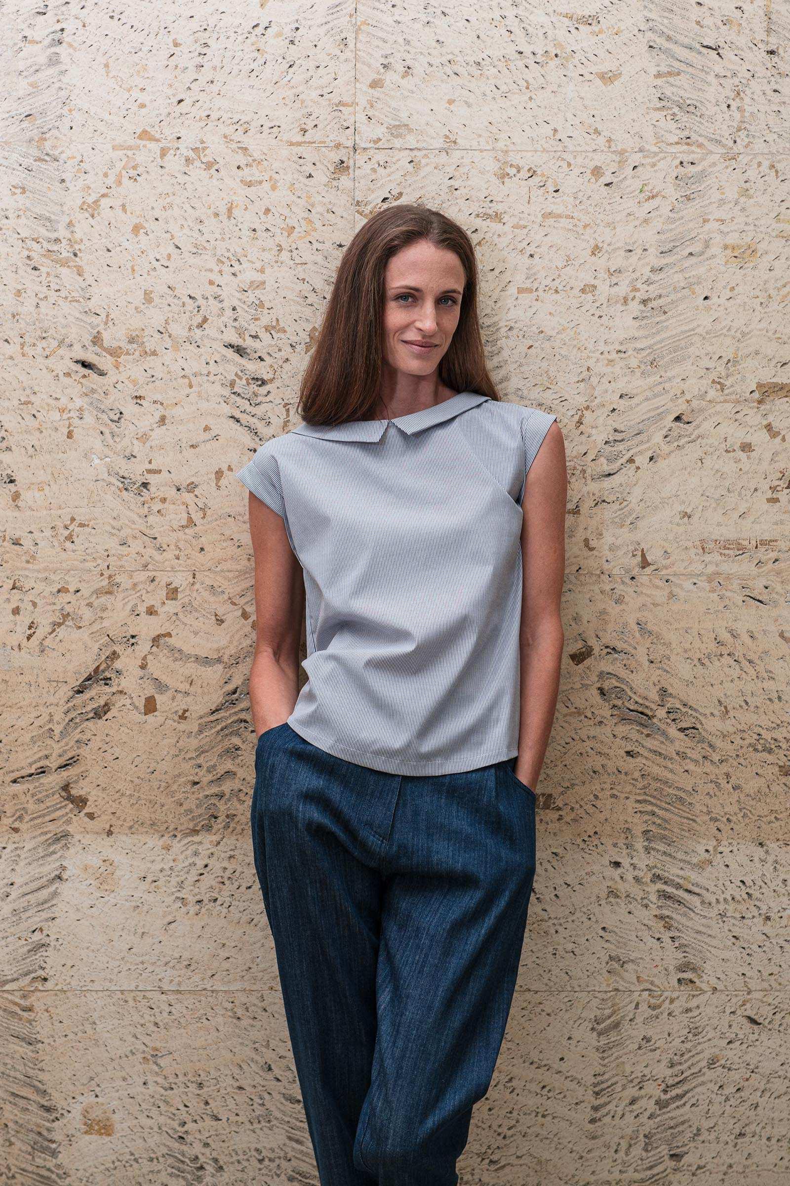 t-shirt and shirt for women Adina stripe