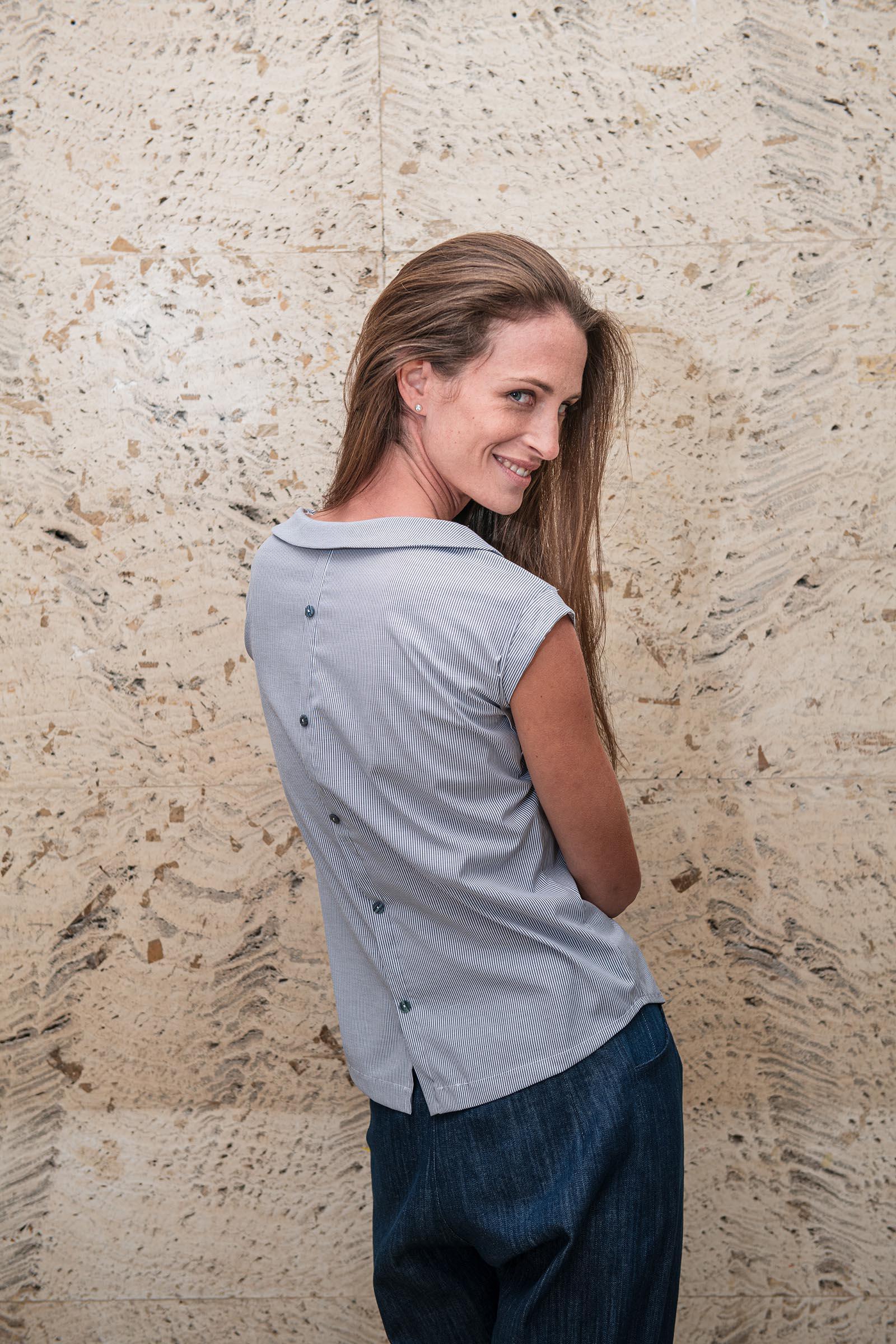 Dámské trička a košile Adina proužek