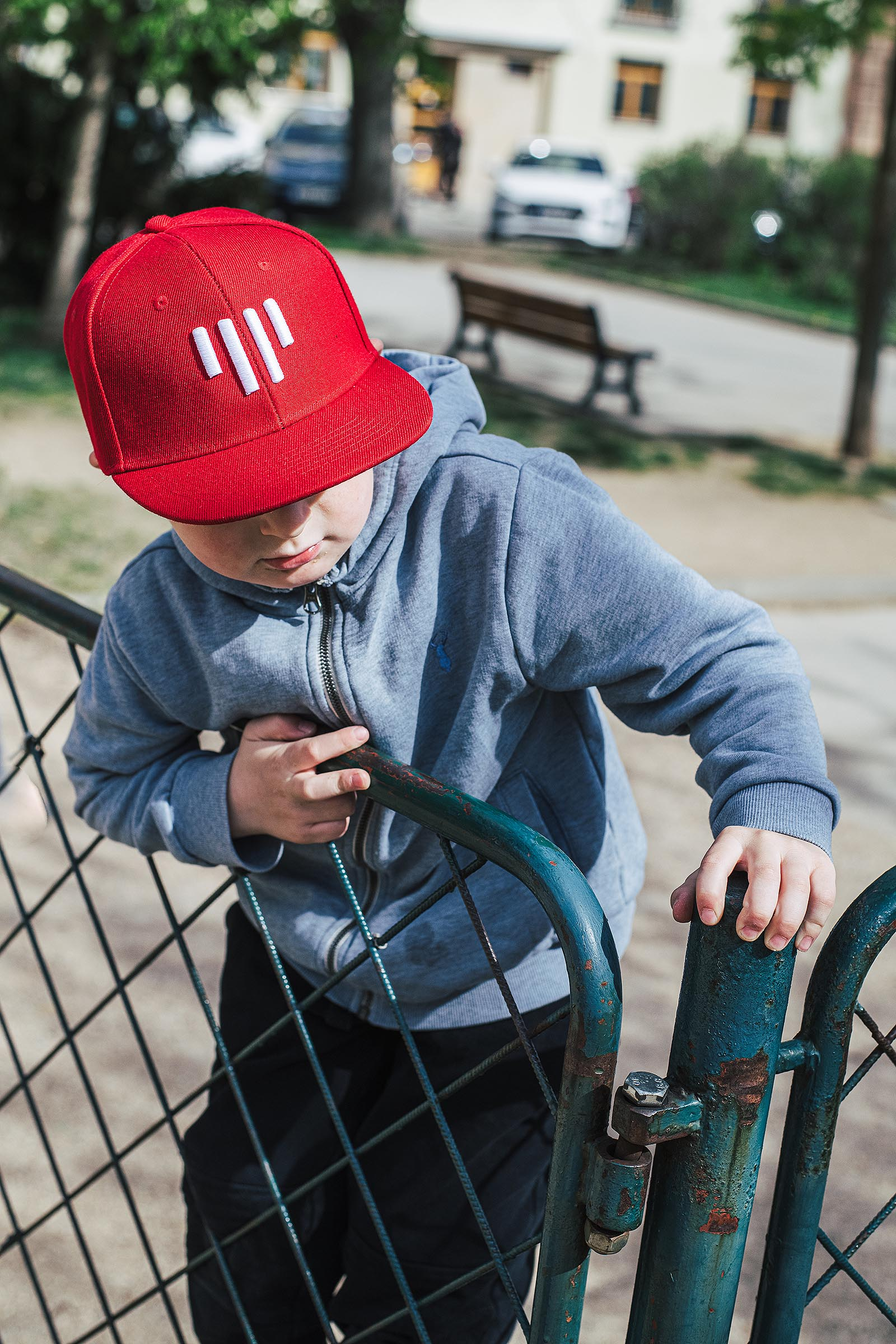 children's outfit Snapback Kids red