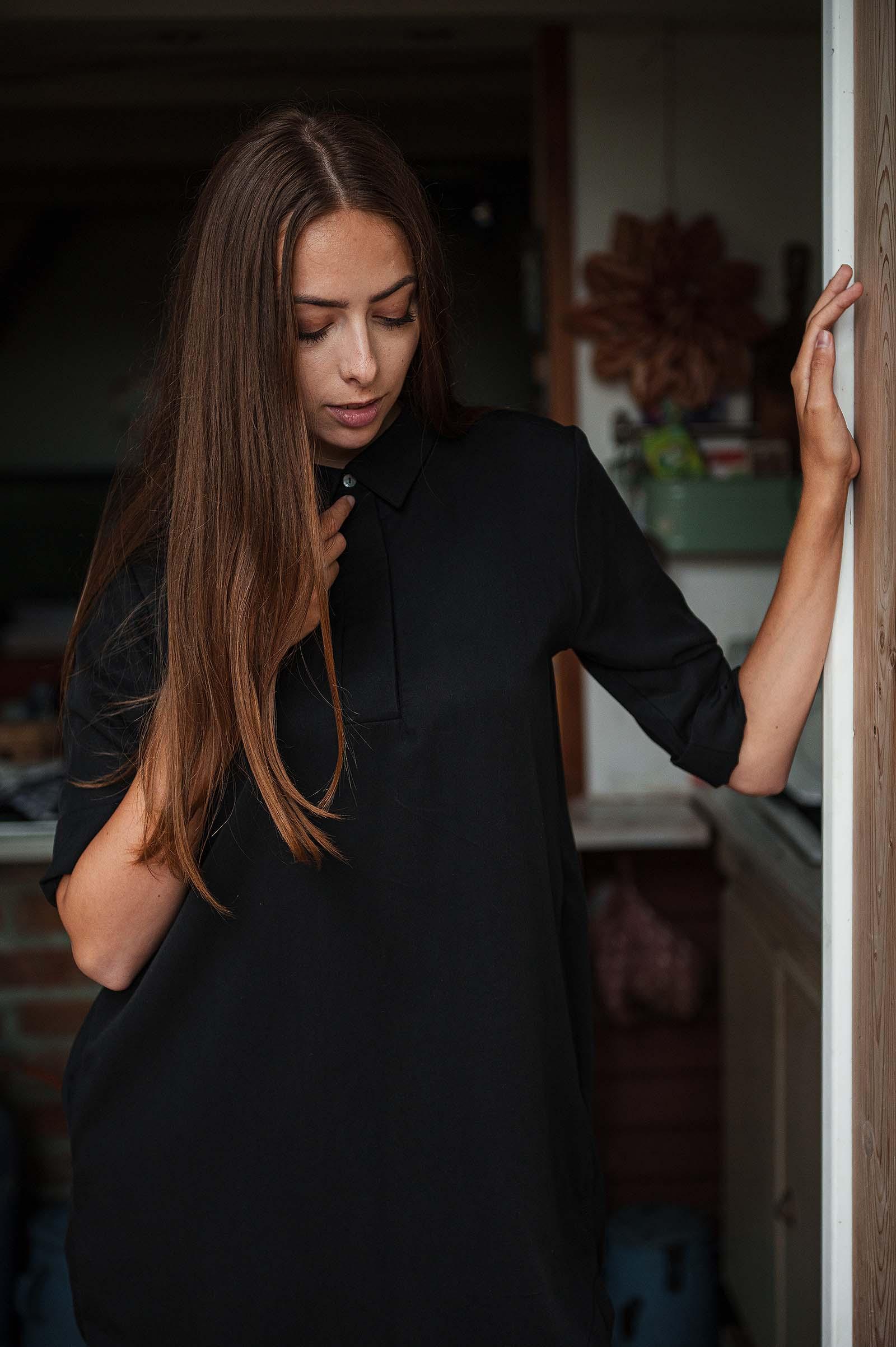 t-shirt and shirt Timea  black