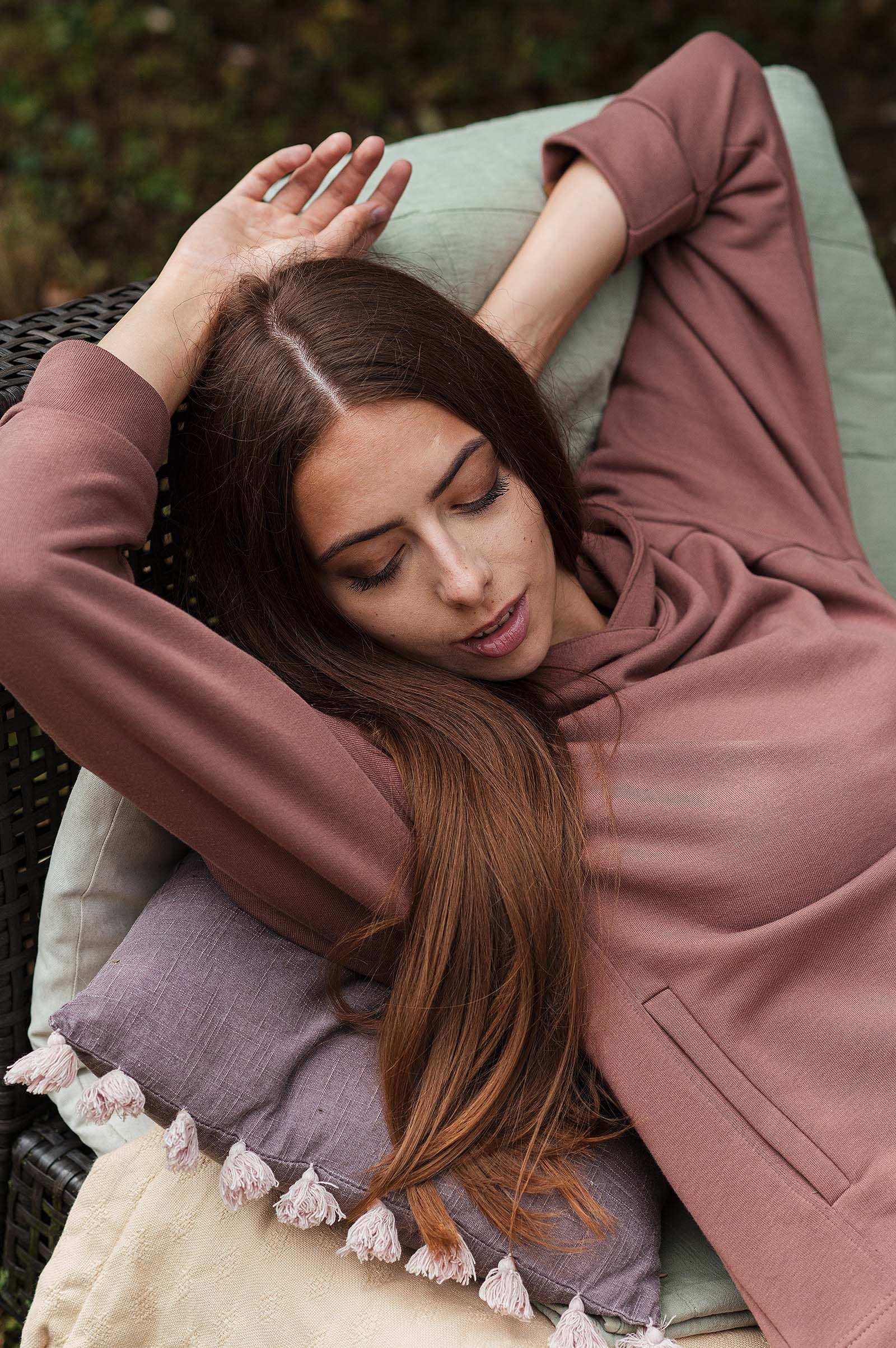 sweatshirt and rollneck Dooha blush