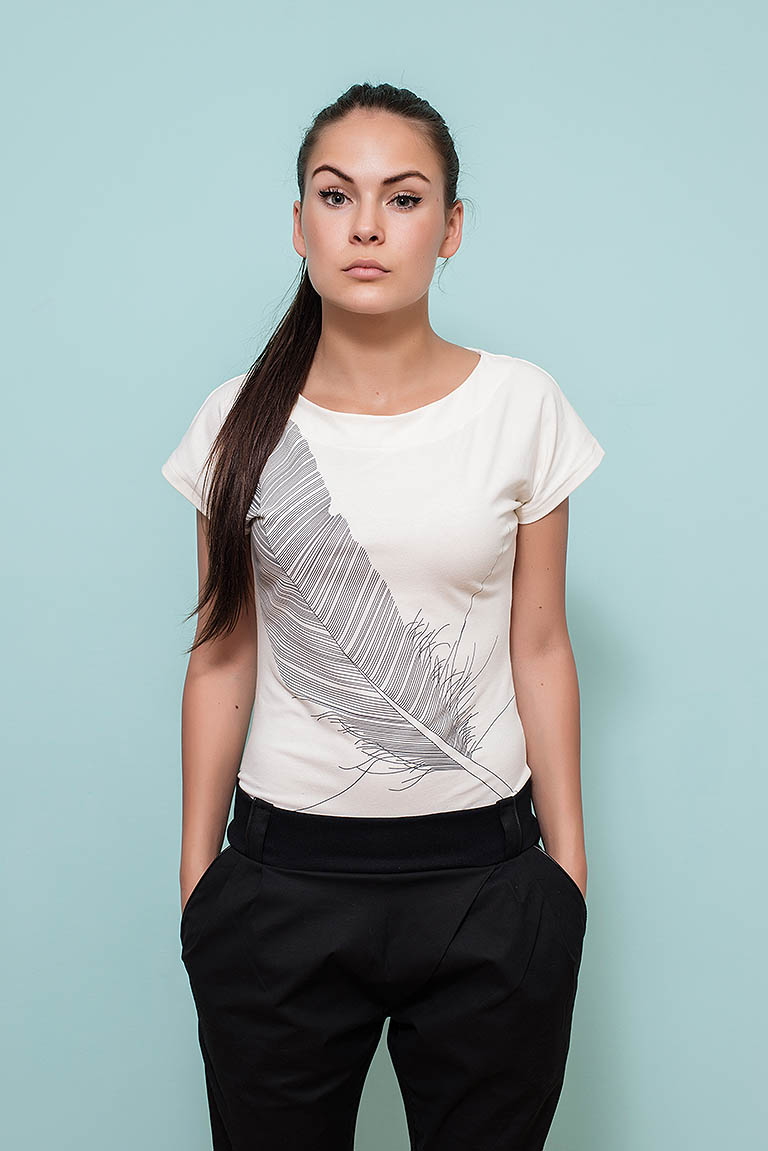 t-shirt for women Angel Cream