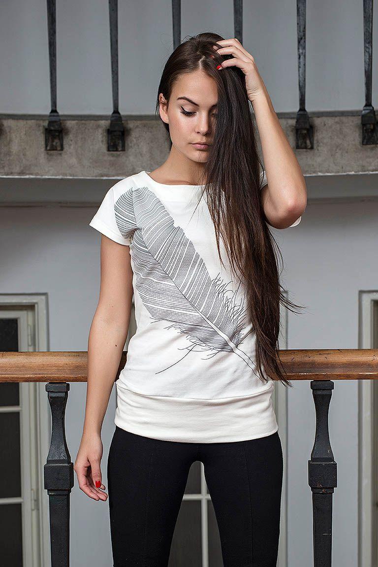 Dámské tričko Angel Krémová