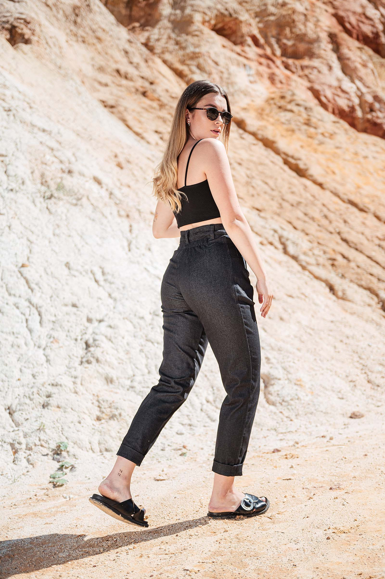 Kalhoty & šortky Gala praná černá